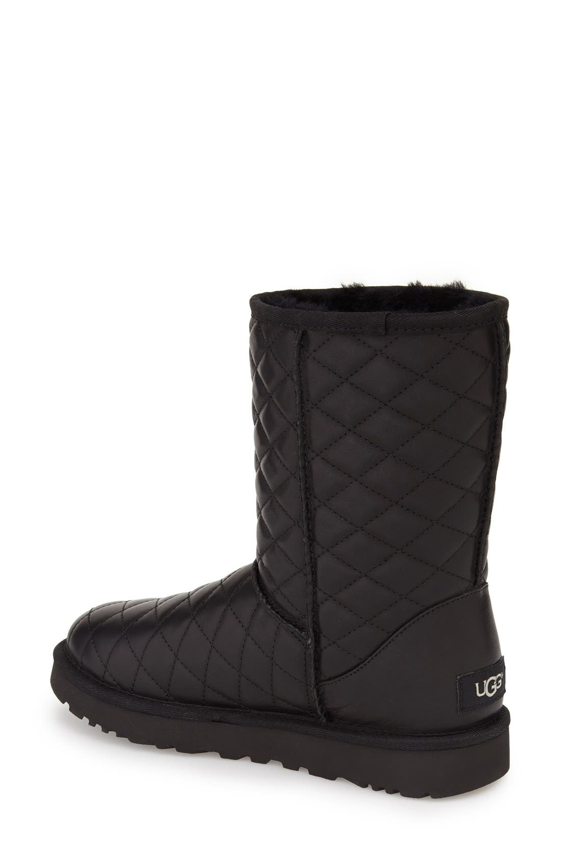 UGG<SUP>®</SUP>,                             Classic Short Quilted Boot,                             Alternate thumbnail 2, color,                             001