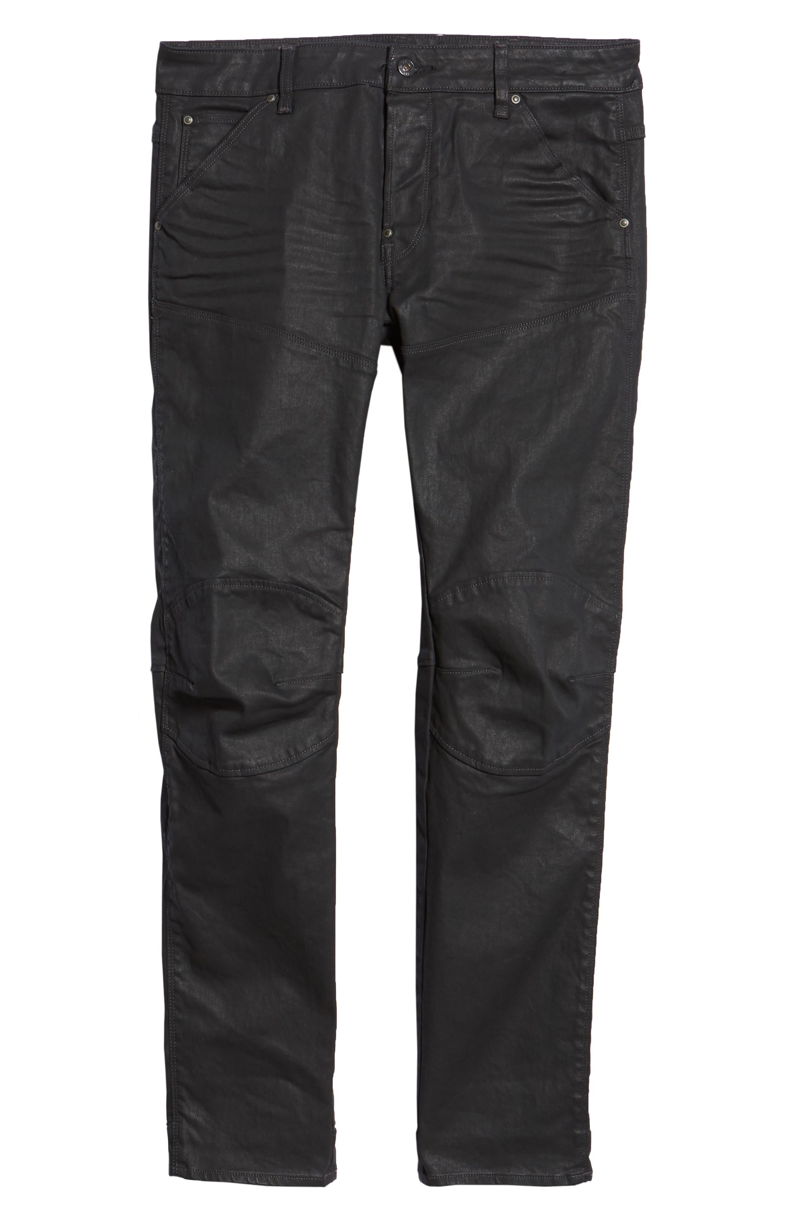 3D Coated Slim Jeans,                             Alternate thumbnail 6, color,                             3D DARK AGED