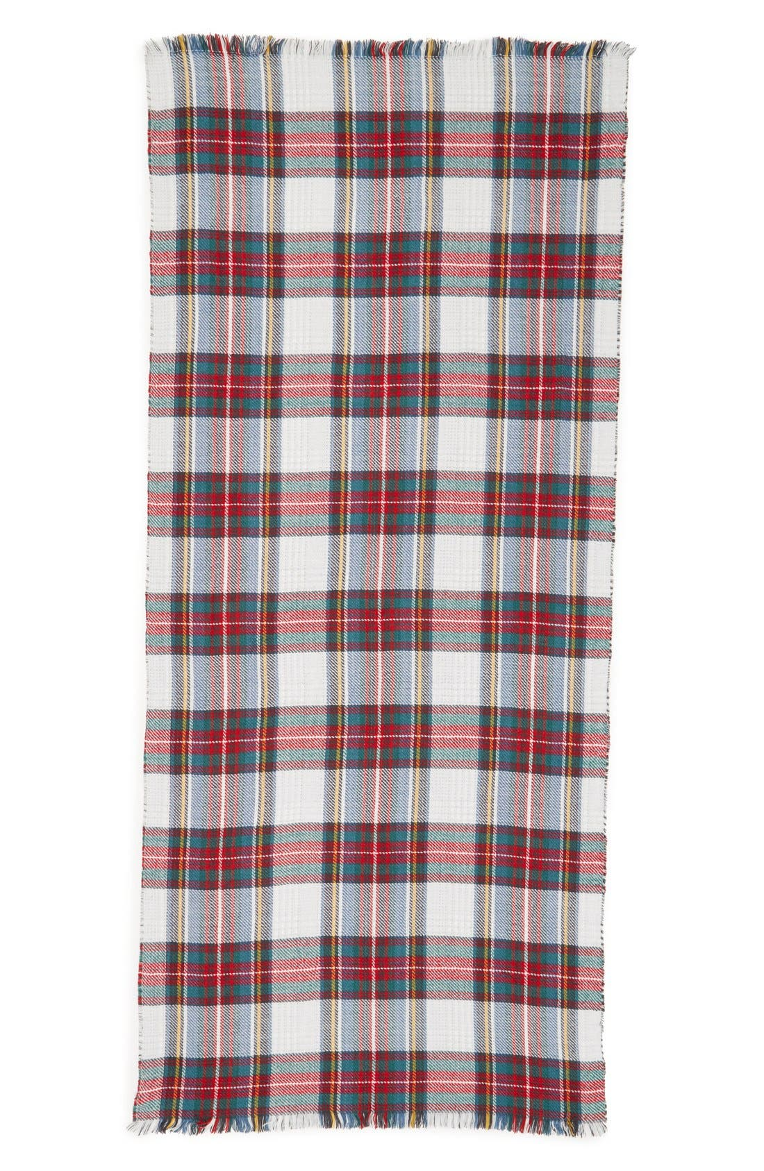 Accessory Collective Plaid Reversible Scarf,                             Alternate thumbnail 2, color,                             117