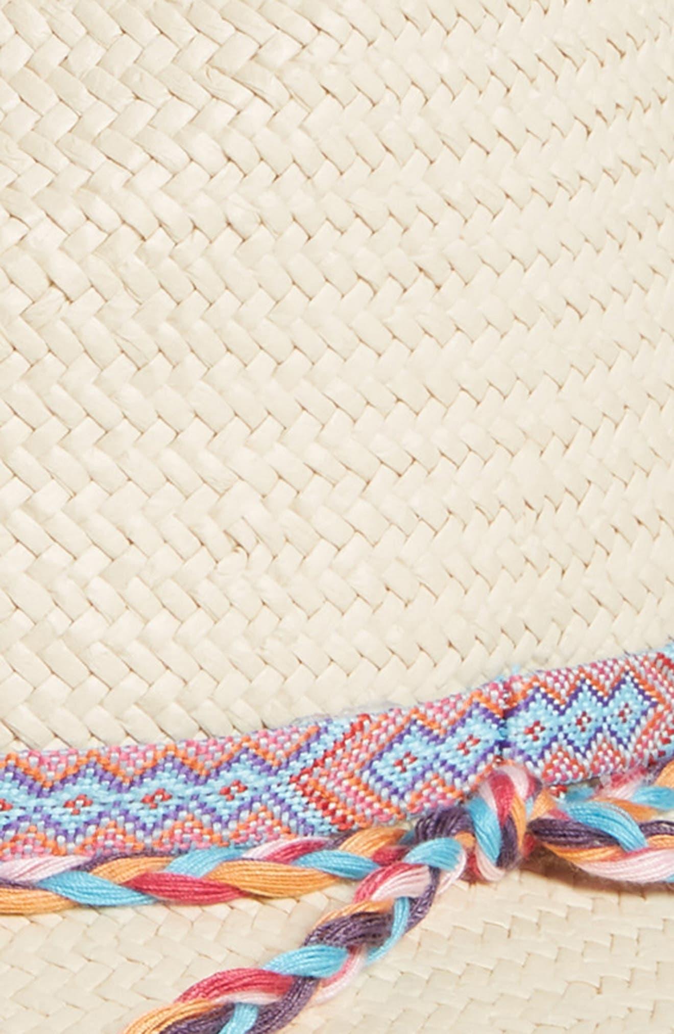 Braided Trim Panama Hat,                             Alternate thumbnail 2, color,                             235