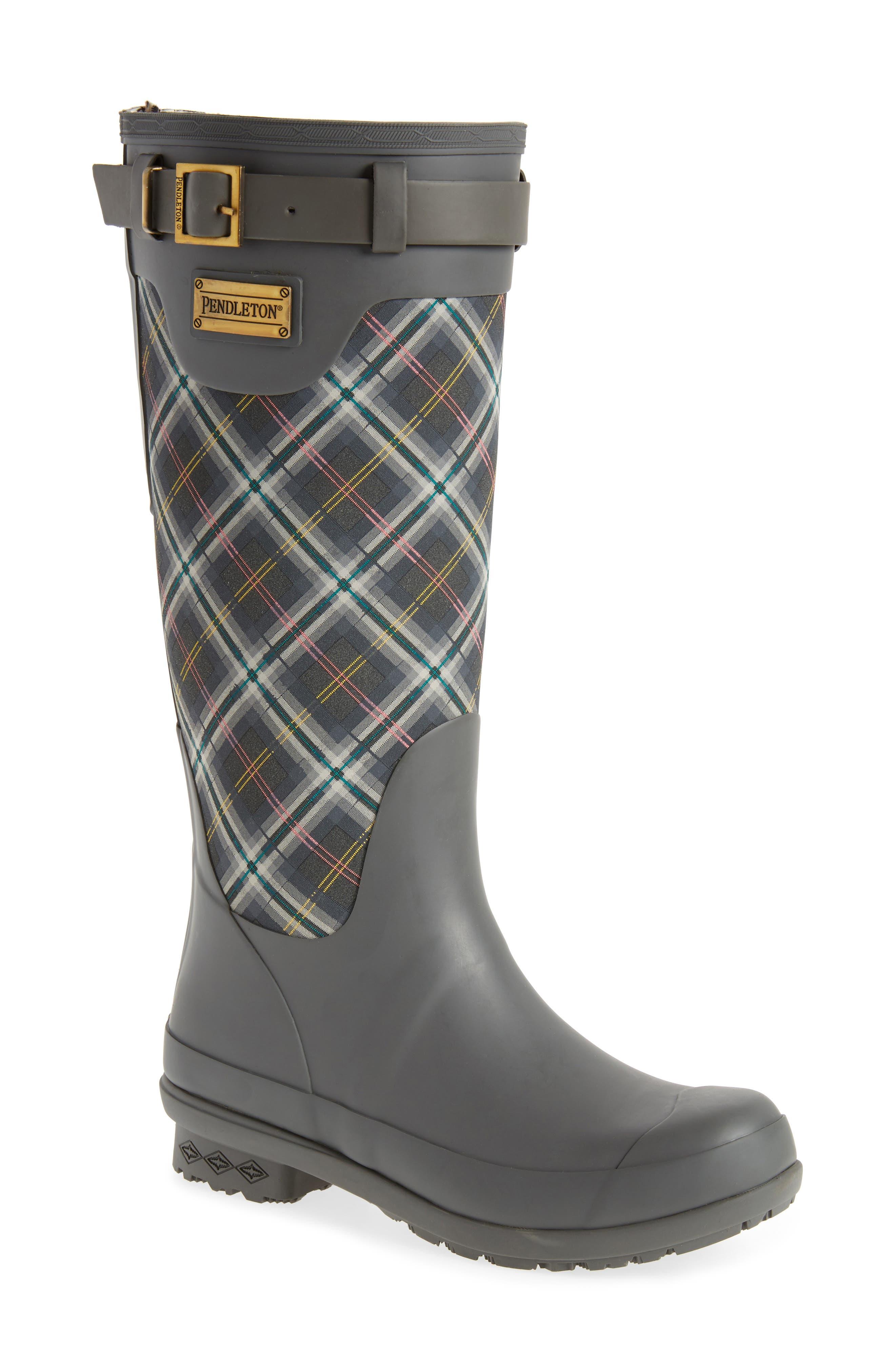 Pendleton Oxford Rain Boot,                         Main,                         color, GRAY