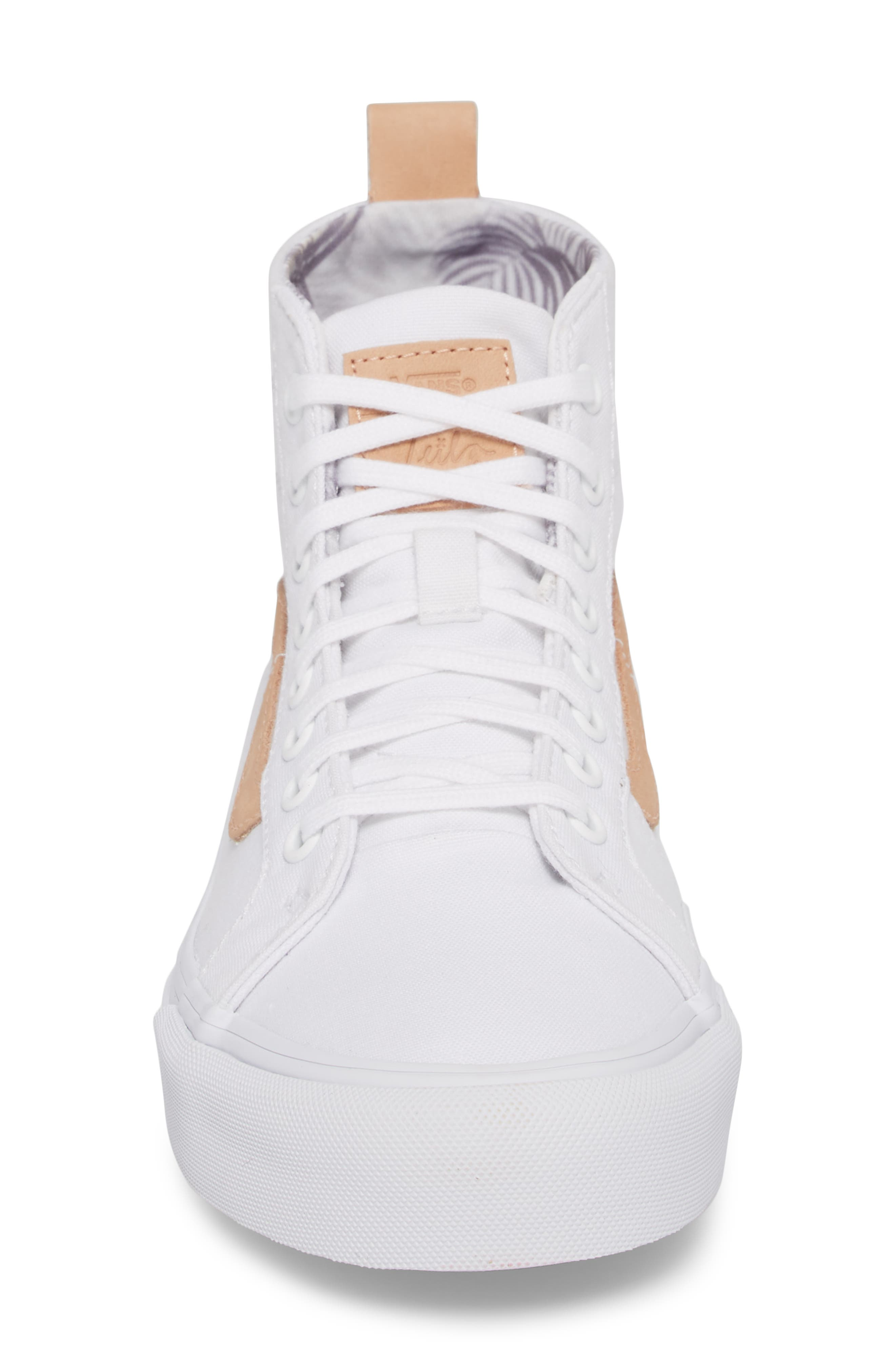 x Leila Hurst Sk8-Hi Decon SF Sneaker,                             Alternate thumbnail 4, color,                             100