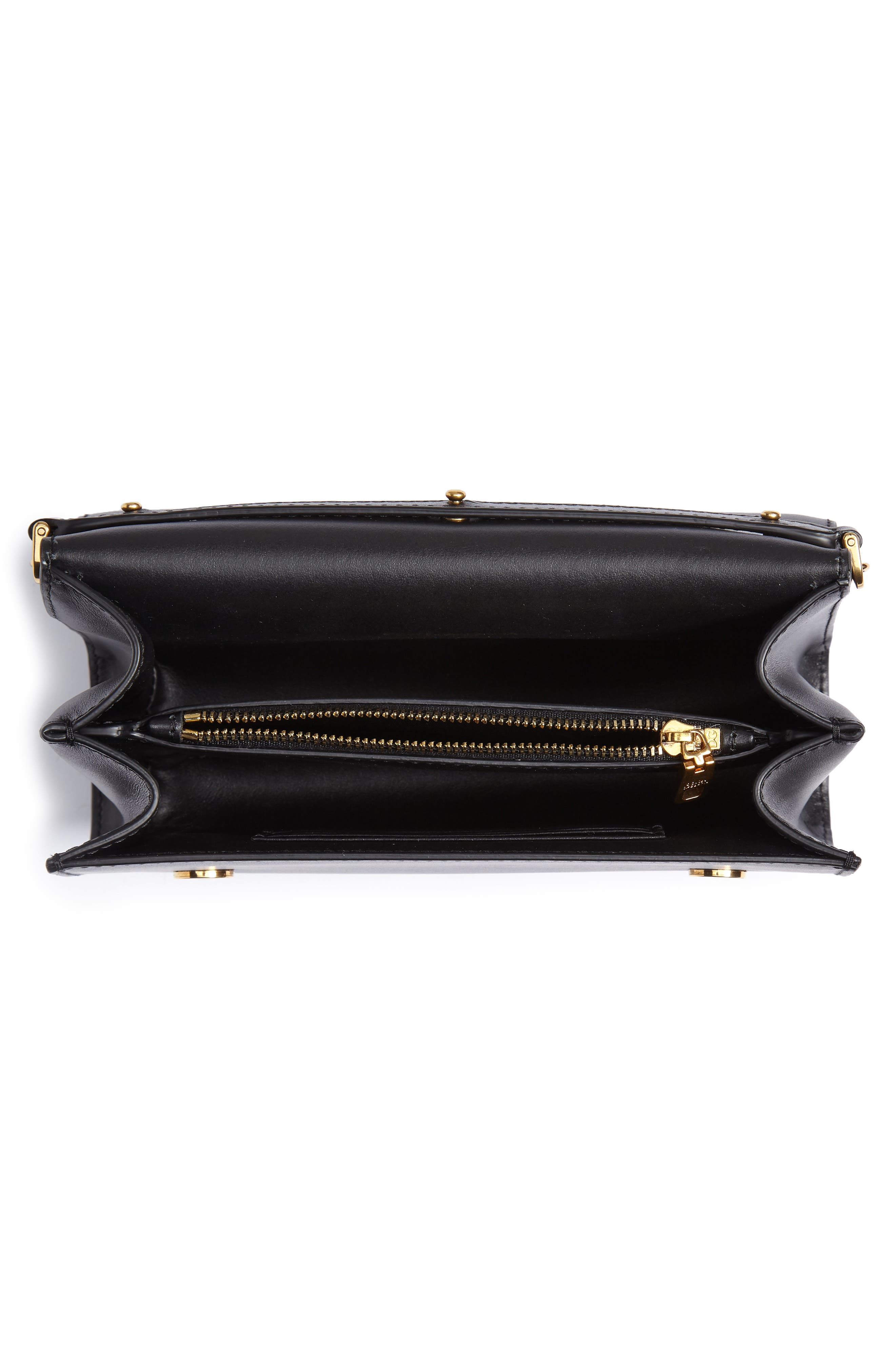 Leather Clutch,                             Alternate thumbnail 4, color,                             NERO