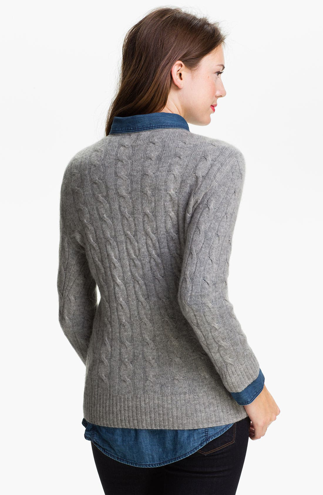 Cable Cashmere Sweater,                             Alternate thumbnail 2, color,                             062