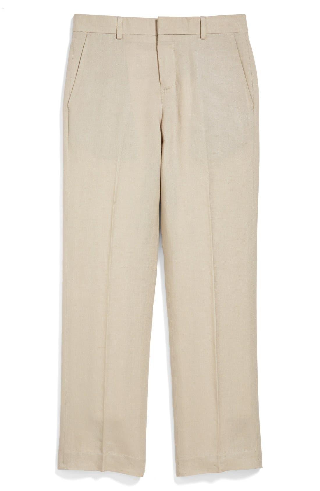 NORDSTROM,                             'Quentin' Linen Blend Trousers,                             Main thumbnail 1, color,                             250