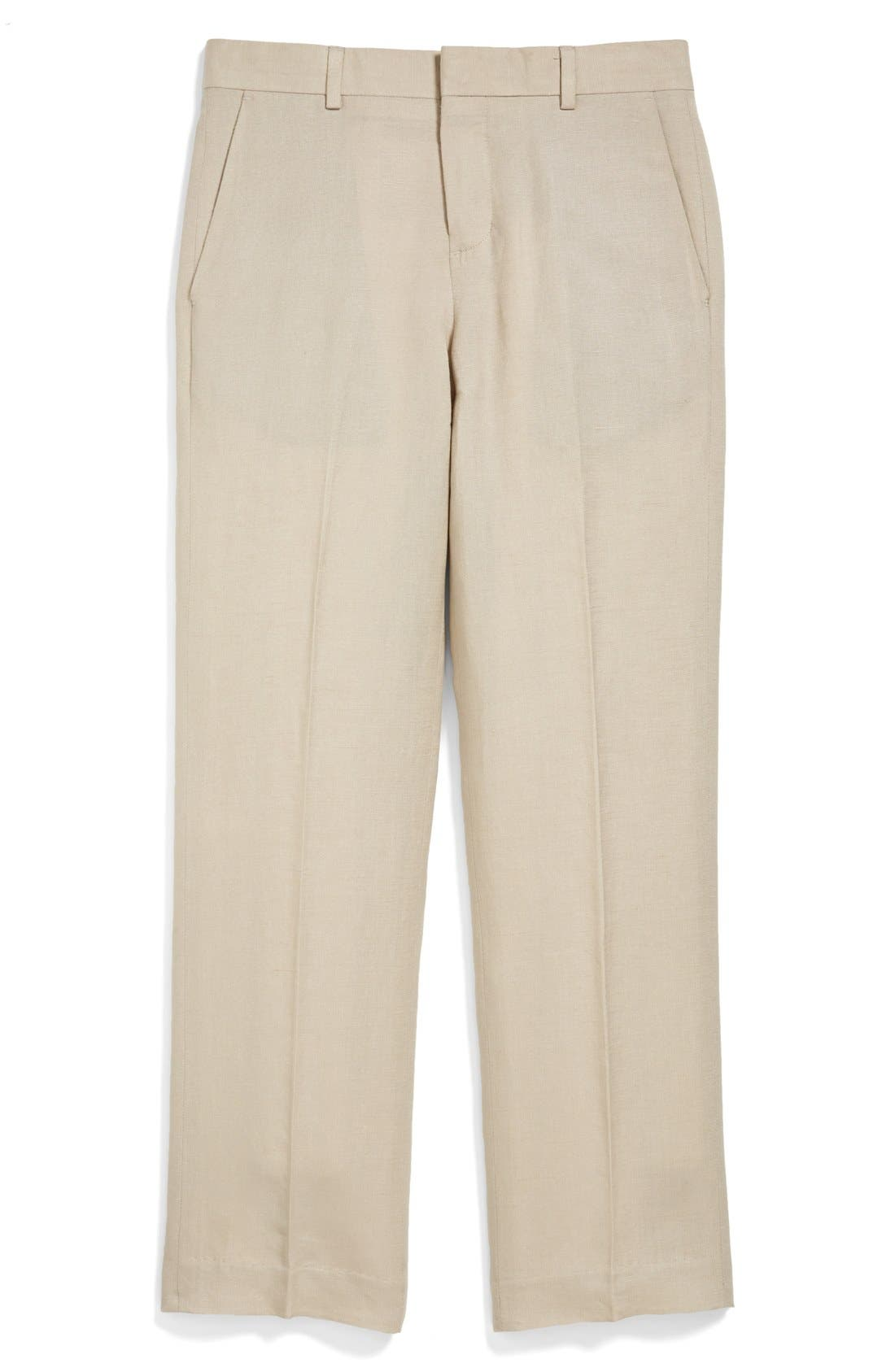 NORDSTROM 'Quentin' Linen Blend Trousers, Main, color, 250
