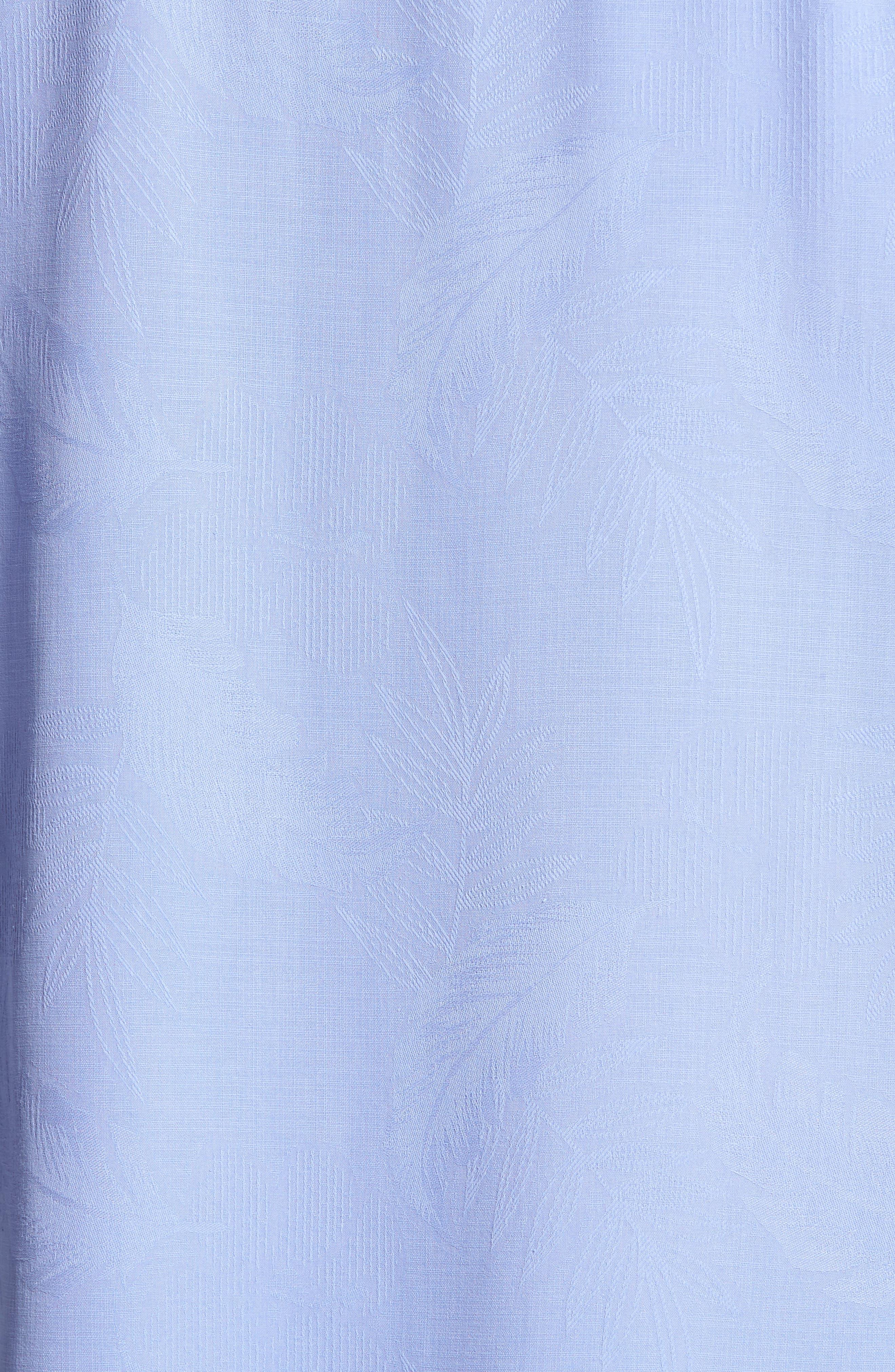 Rio Fronds Short Sleeve Silk Sport Shirt,                             Alternate thumbnail 81, color,