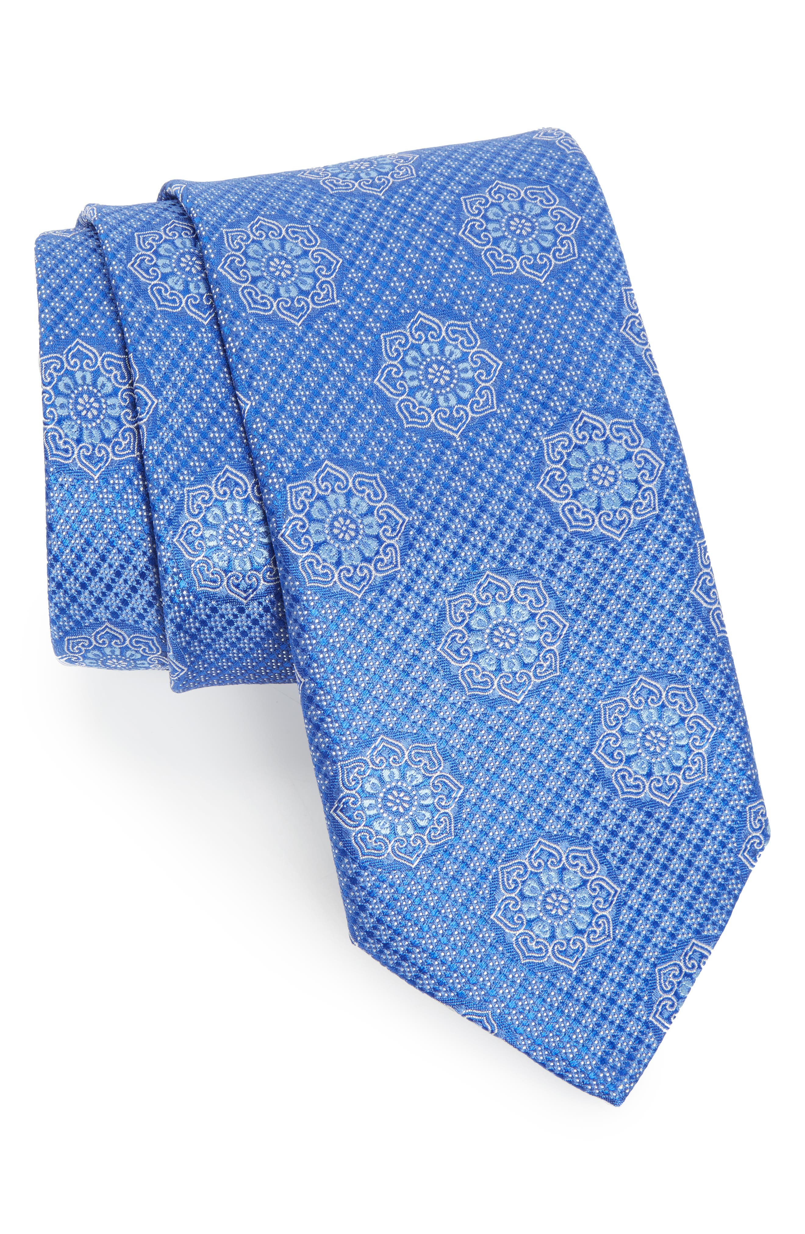 Medallion Silk Tie,                         Main,                         color, 400