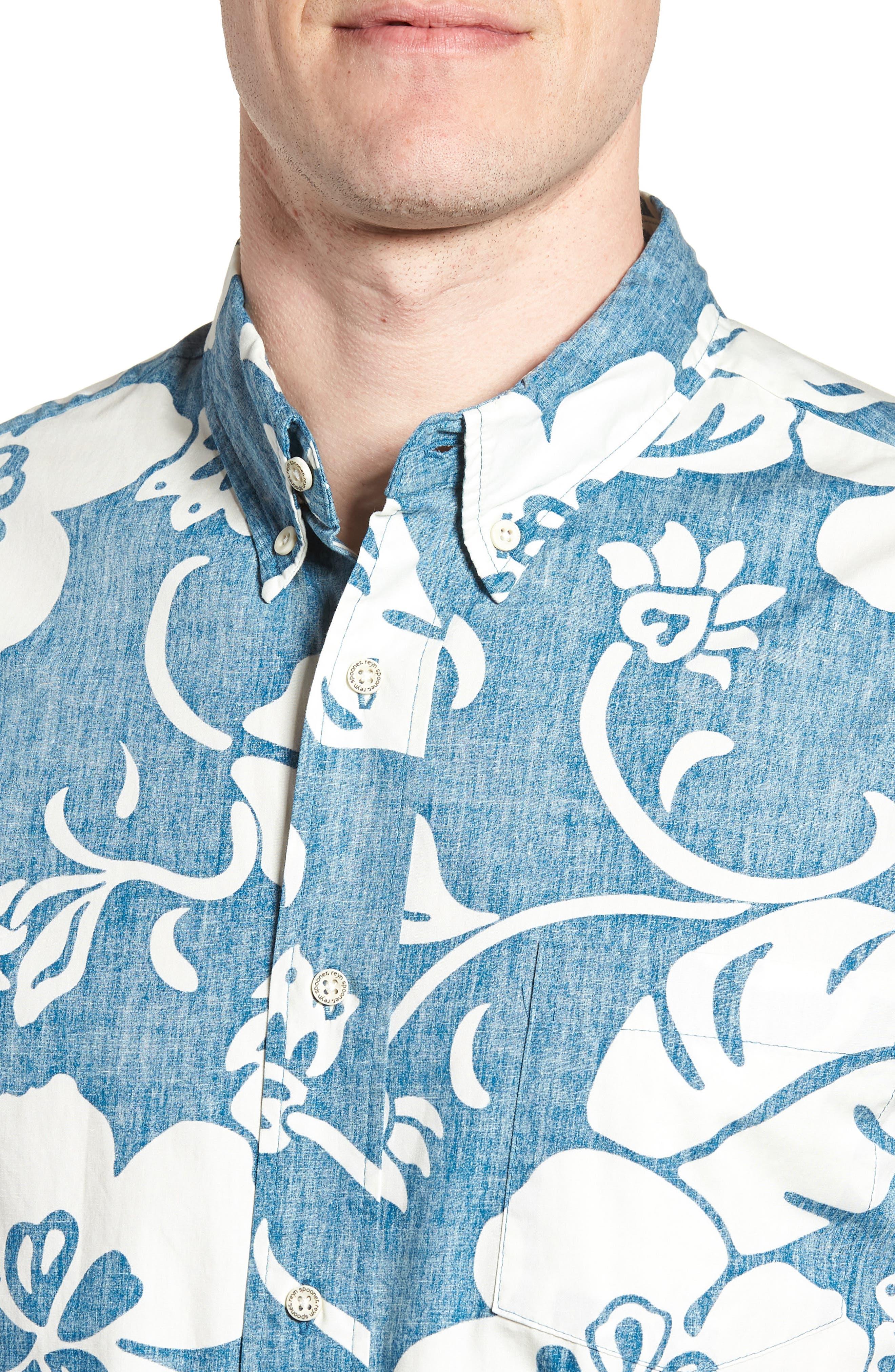 Papeetee Pareau Tailored Fit Sport Shirt,                             Alternate thumbnail 4, color,