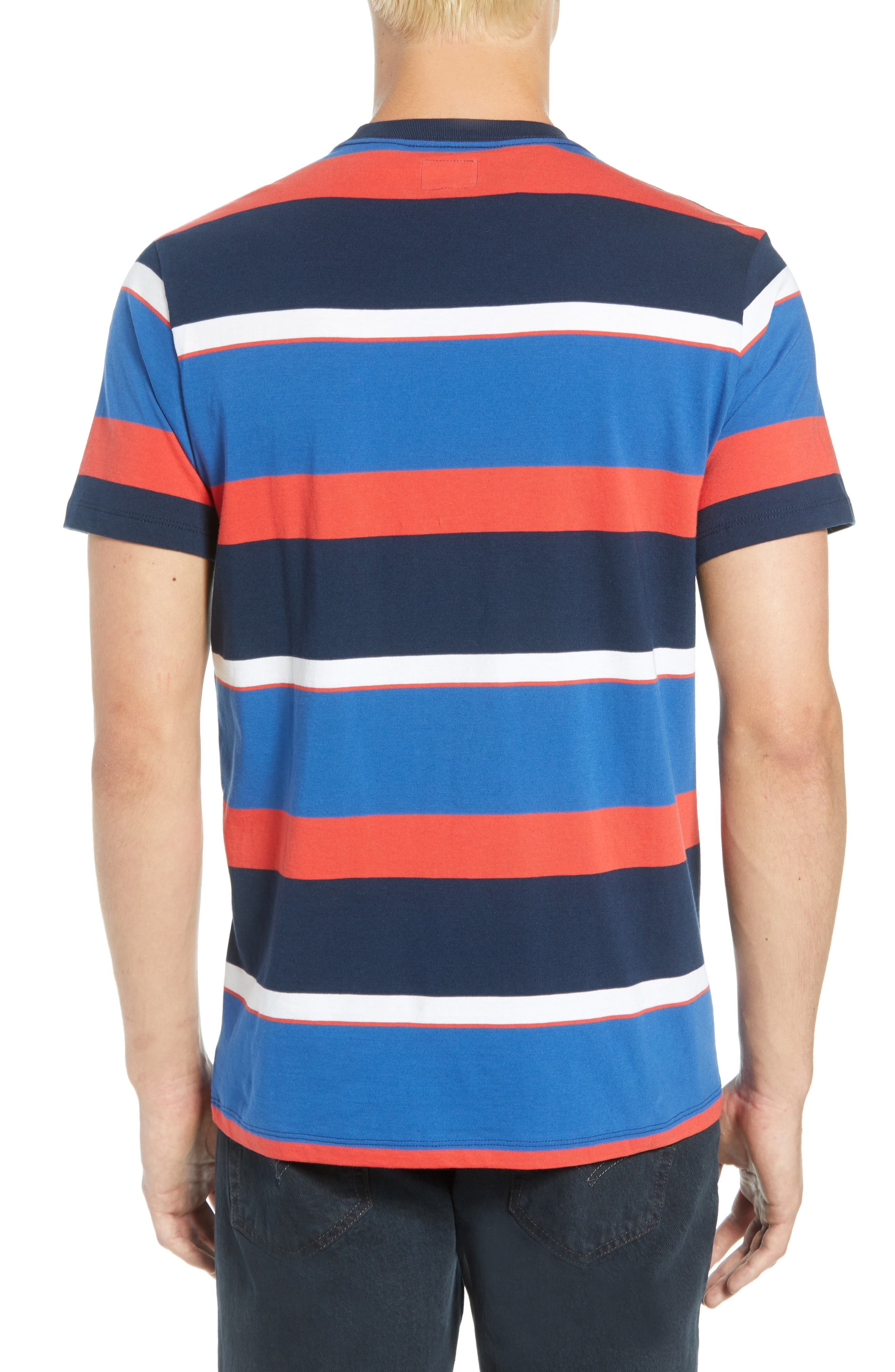 Levi's Sunset Stripe Pocket T-Shirt,                             Alternate thumbnail 2, color,                             SIXTIES RUGBY