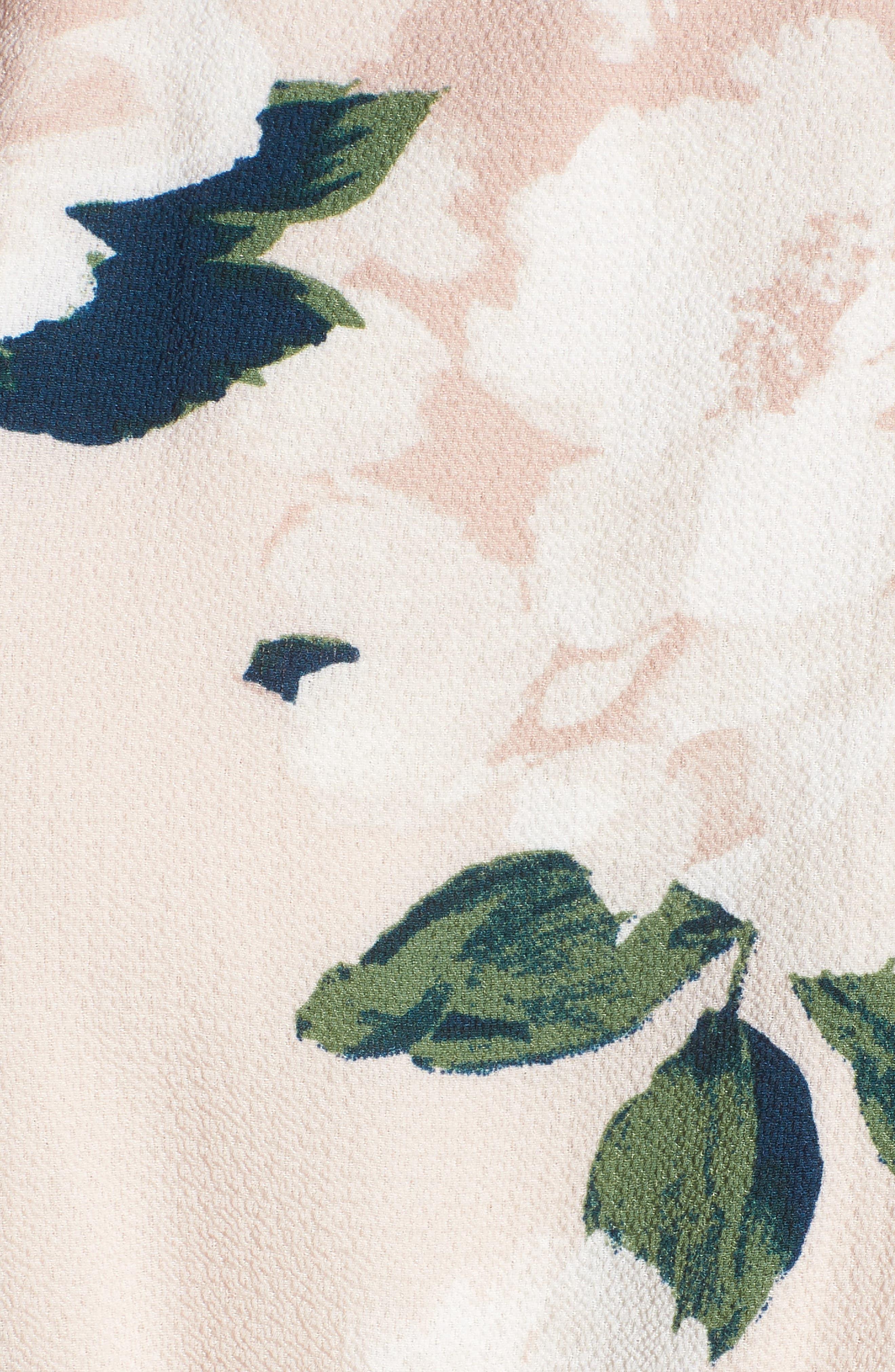 Floral Print Midi Romper,                             Alternate thumbnail 5, color,                             650