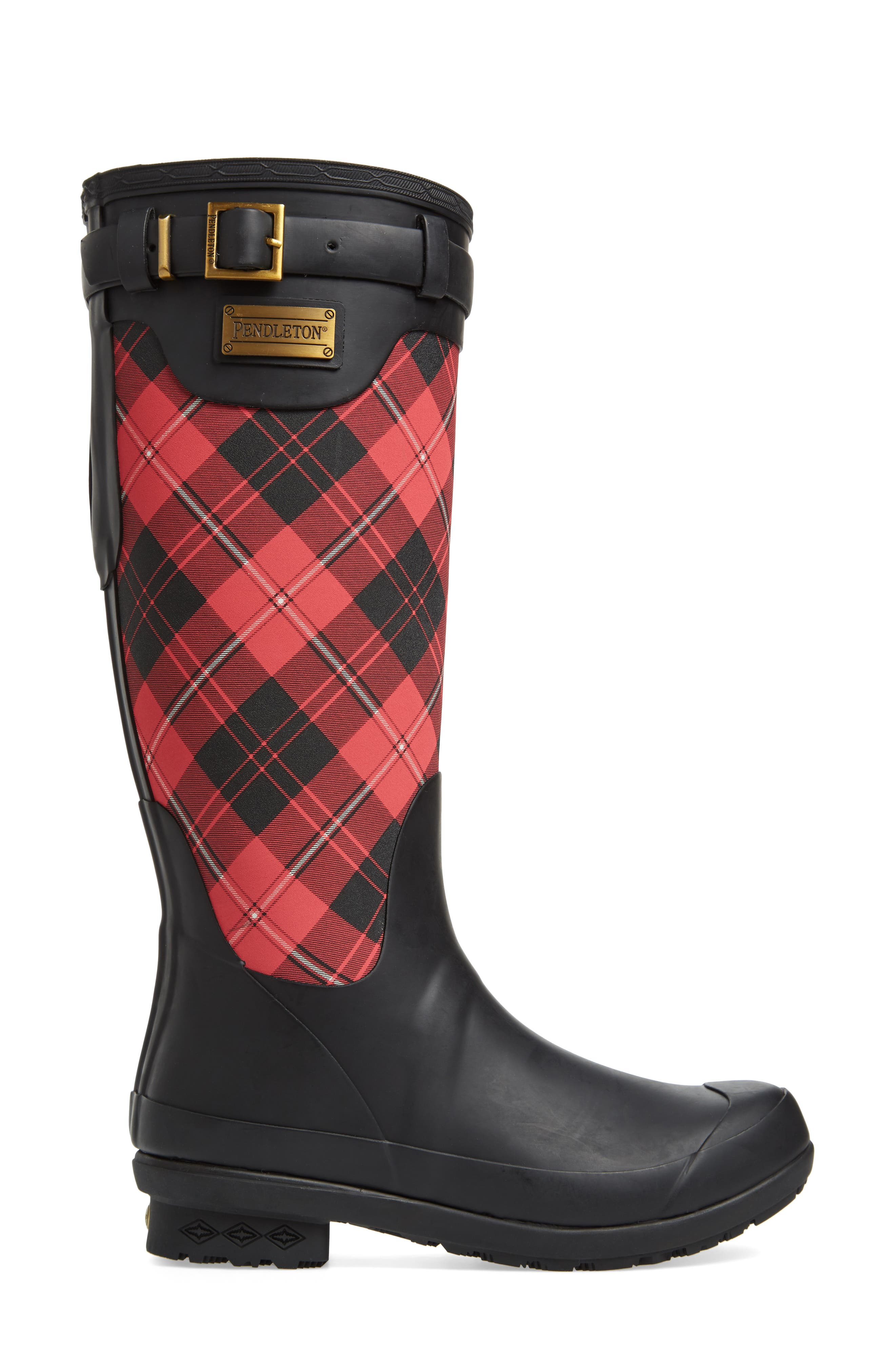 Heritage Cunningham Tartan Tall Boot,                             Alternate thumbnail 3, color,                             SCARLET