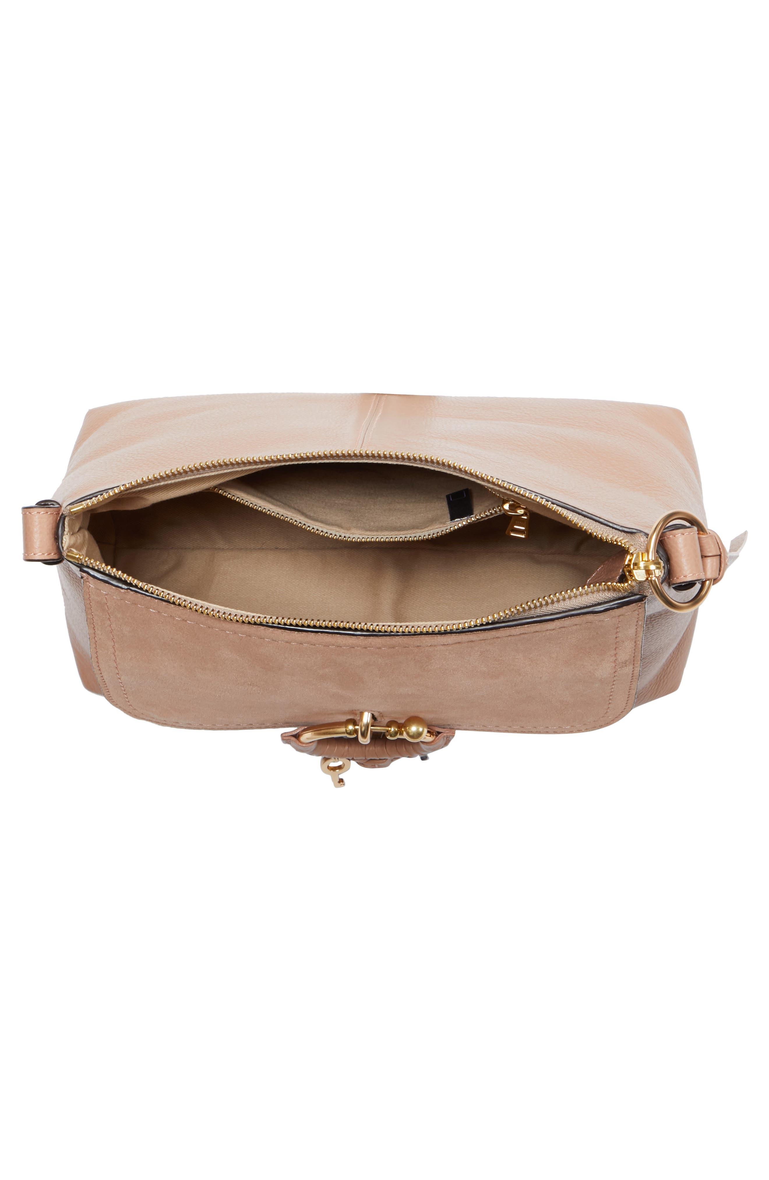 Small Joan Leather Shoulder Bag,                             Alternate thumbnail 4, color,                             650