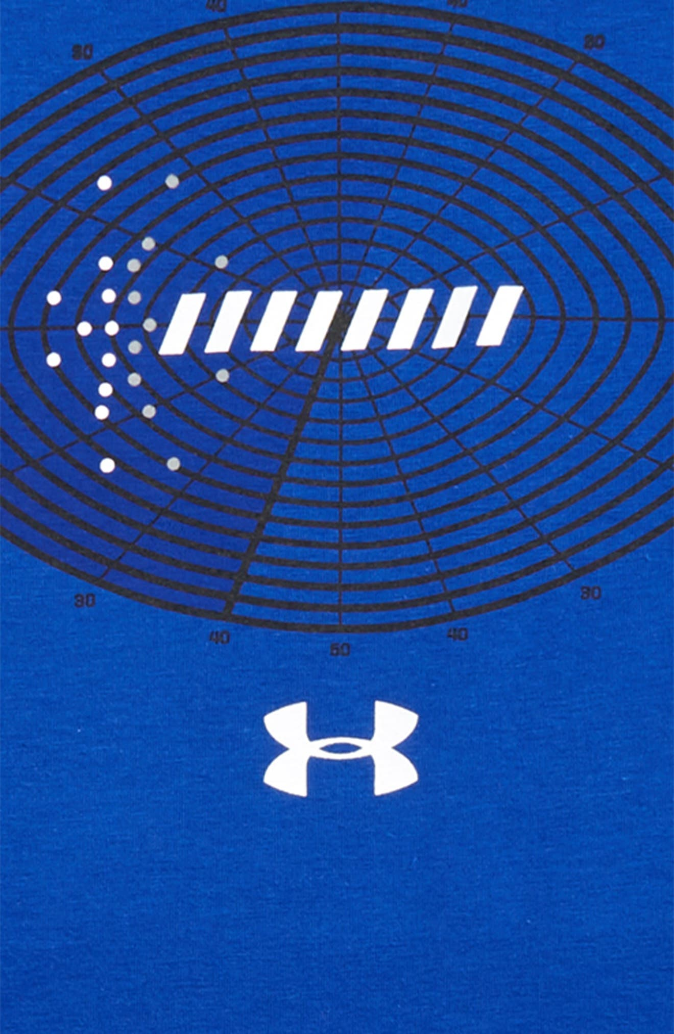 Aerial Football HeatGear<sup>®</sup> Charged Cotton<sup>®</sup> T-Shirt,                             Alternate thumbnail 2, color,                             400