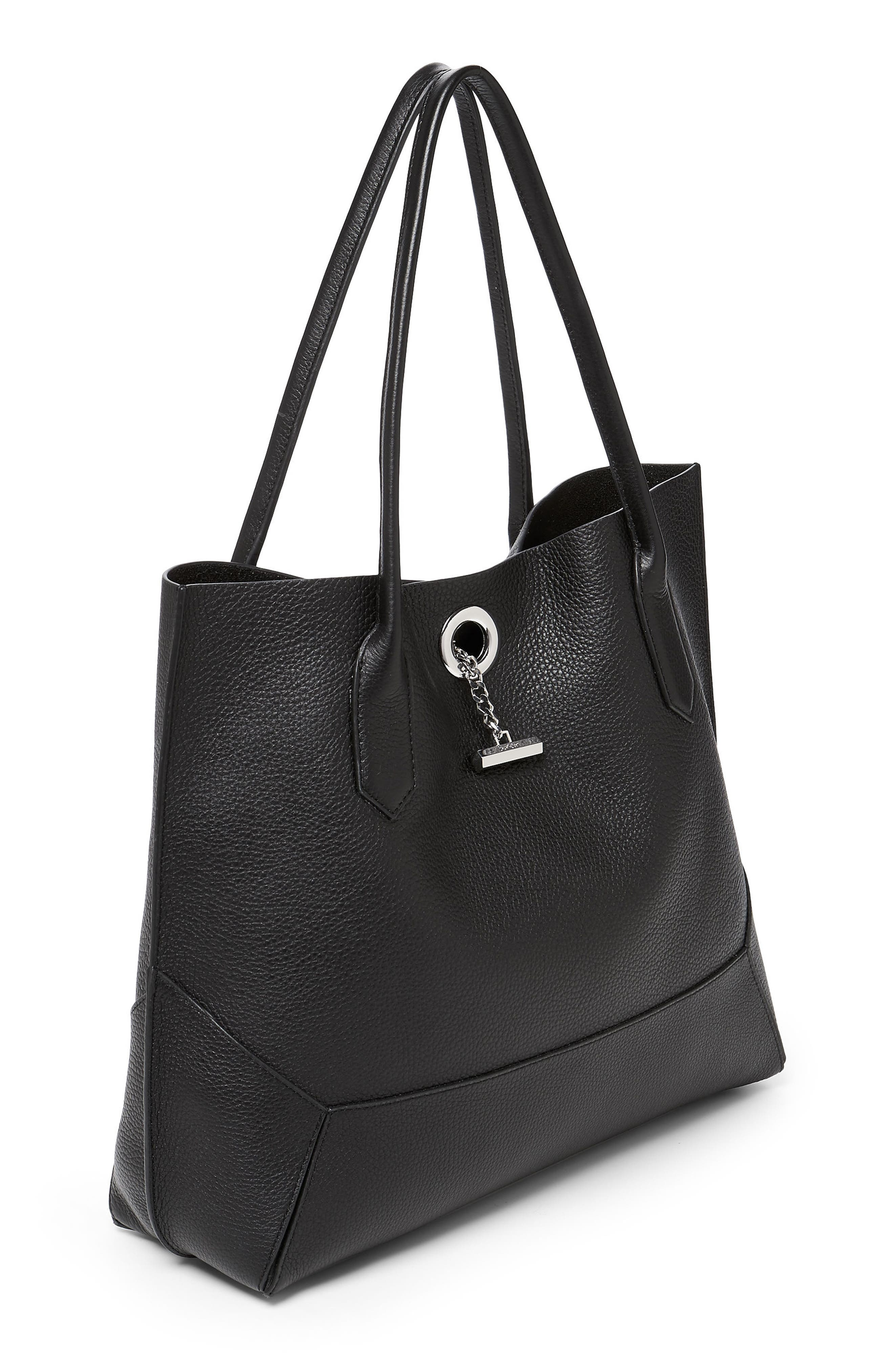 Waverly Leather Tote,                             Alternate thumbnail 2, color,                             001