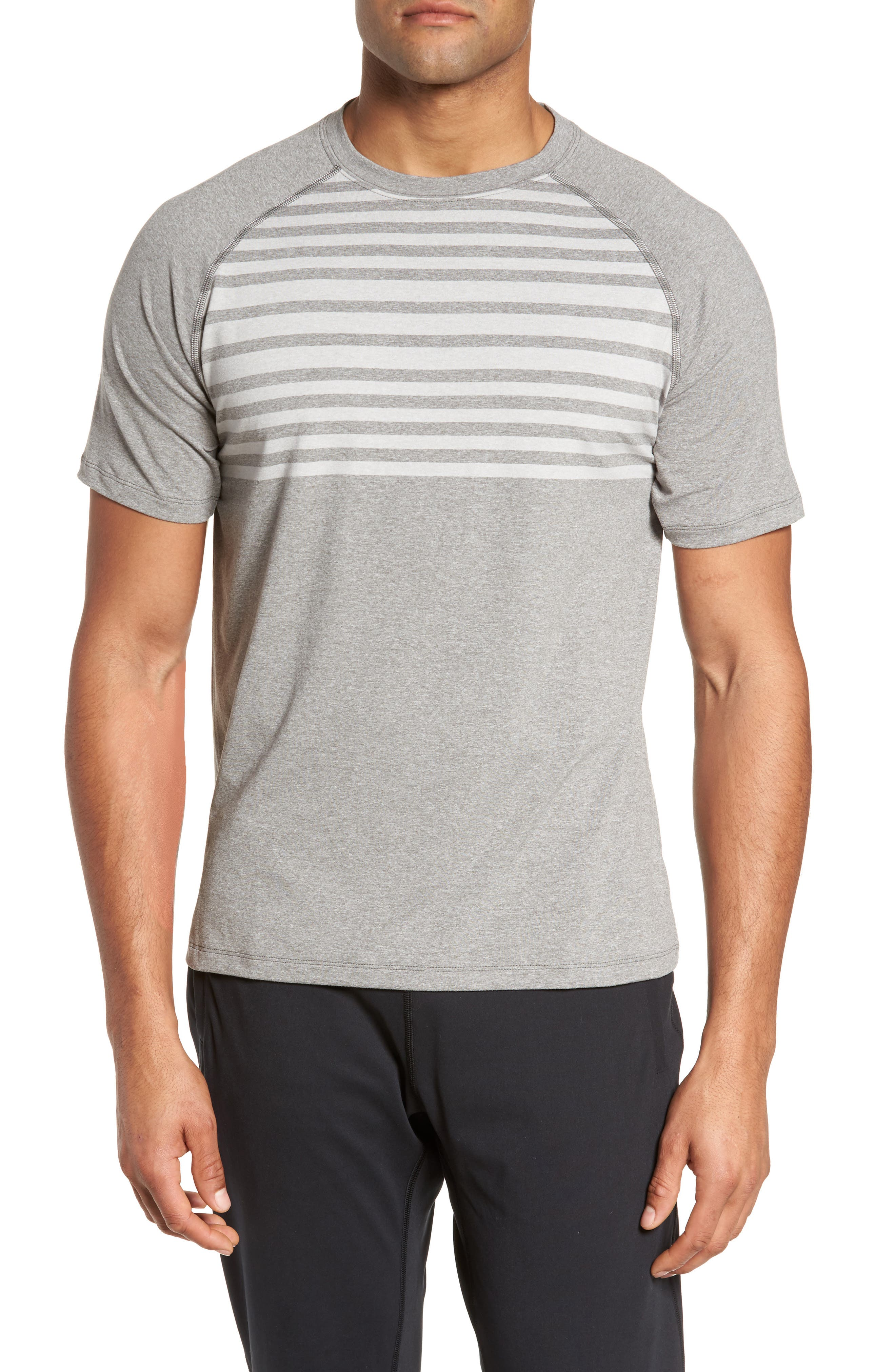 Rio Stripe Technical T-Shirt,                             Main thumbnail 1, color,                             025