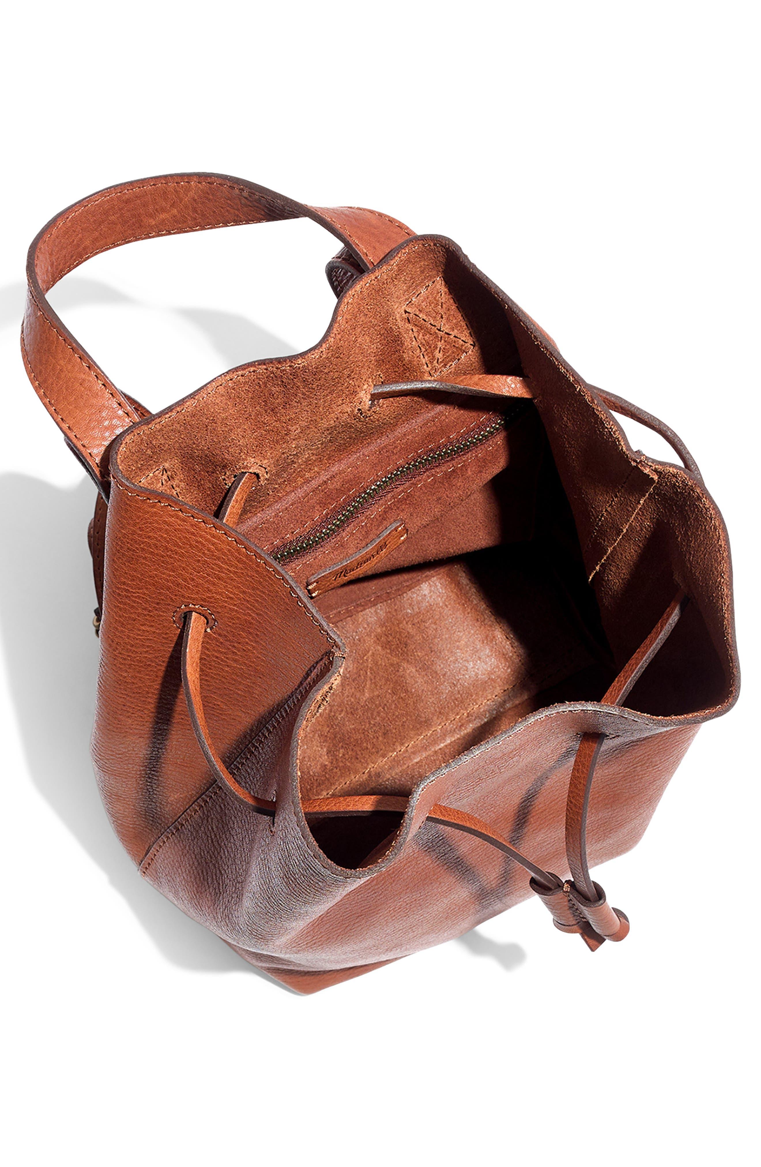 Mini Somerset Leather Backpack,                             Alternate thumbnail 4, color,                             200