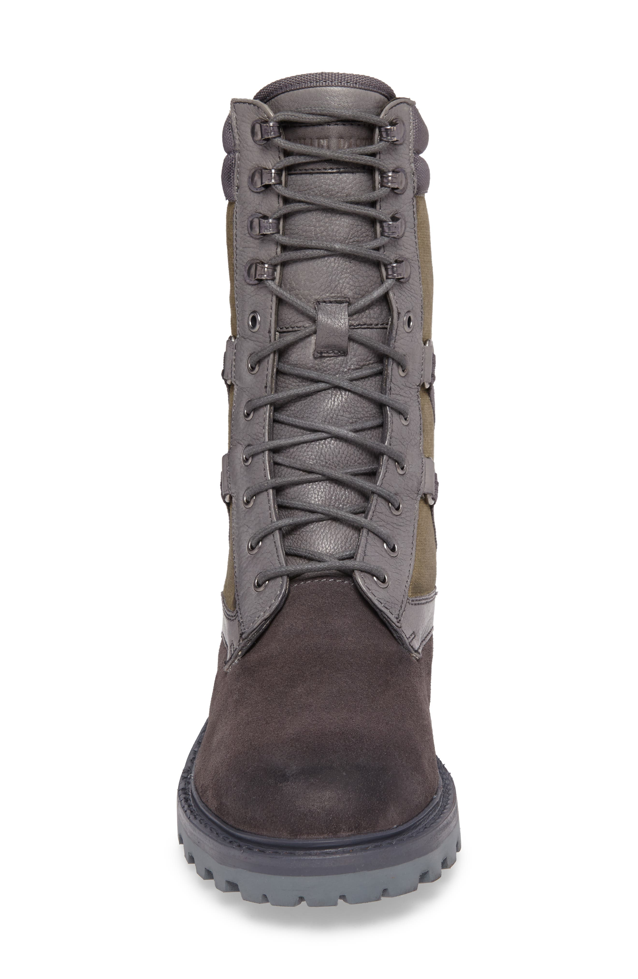 Combat Ultra Force Boot,                             Alternate thumbnail 4, color,                             GREY SUEDE