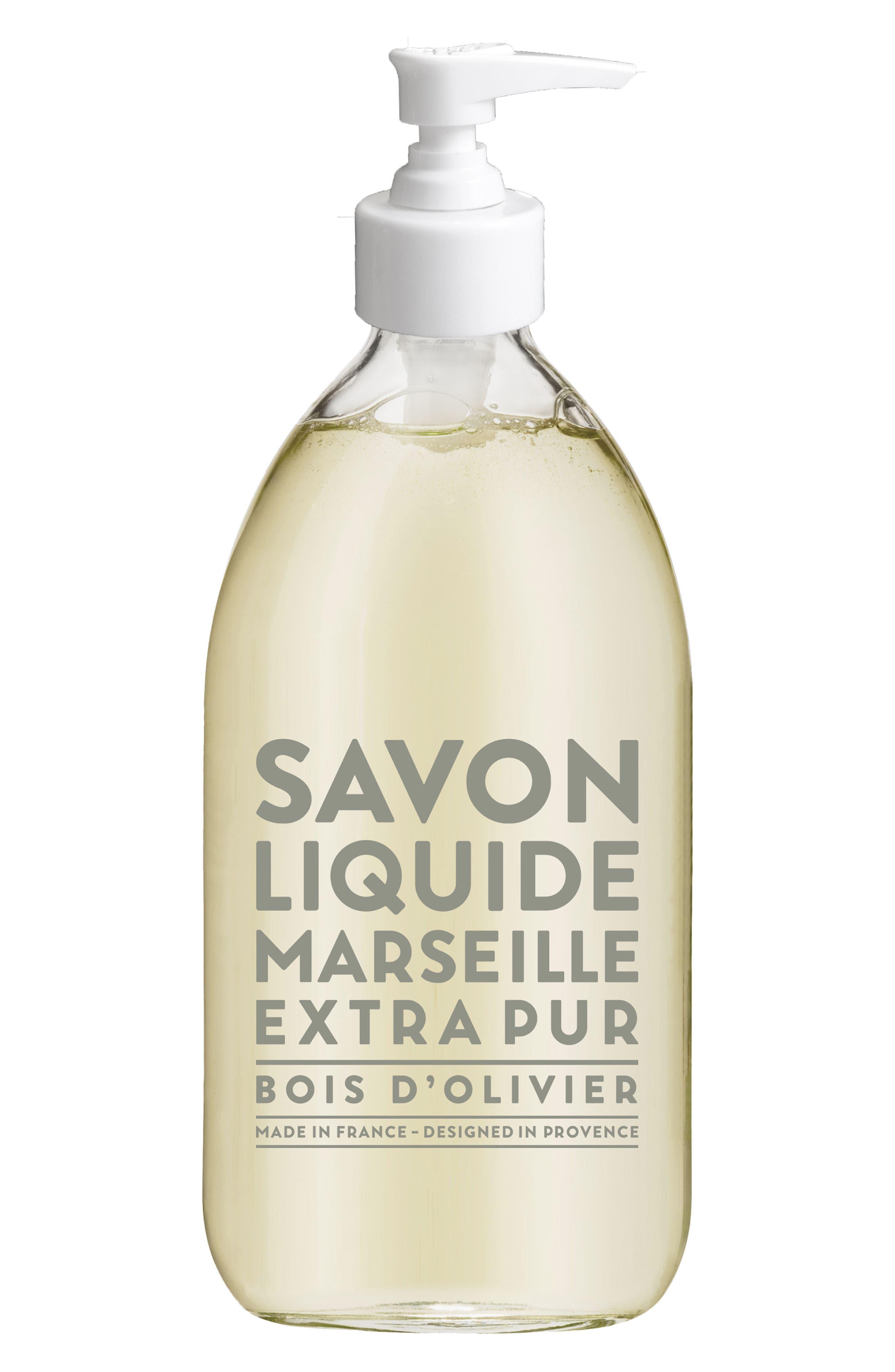 Olive Wood Liquid Marseille Soap,                         Main,                         color, NO COLOR