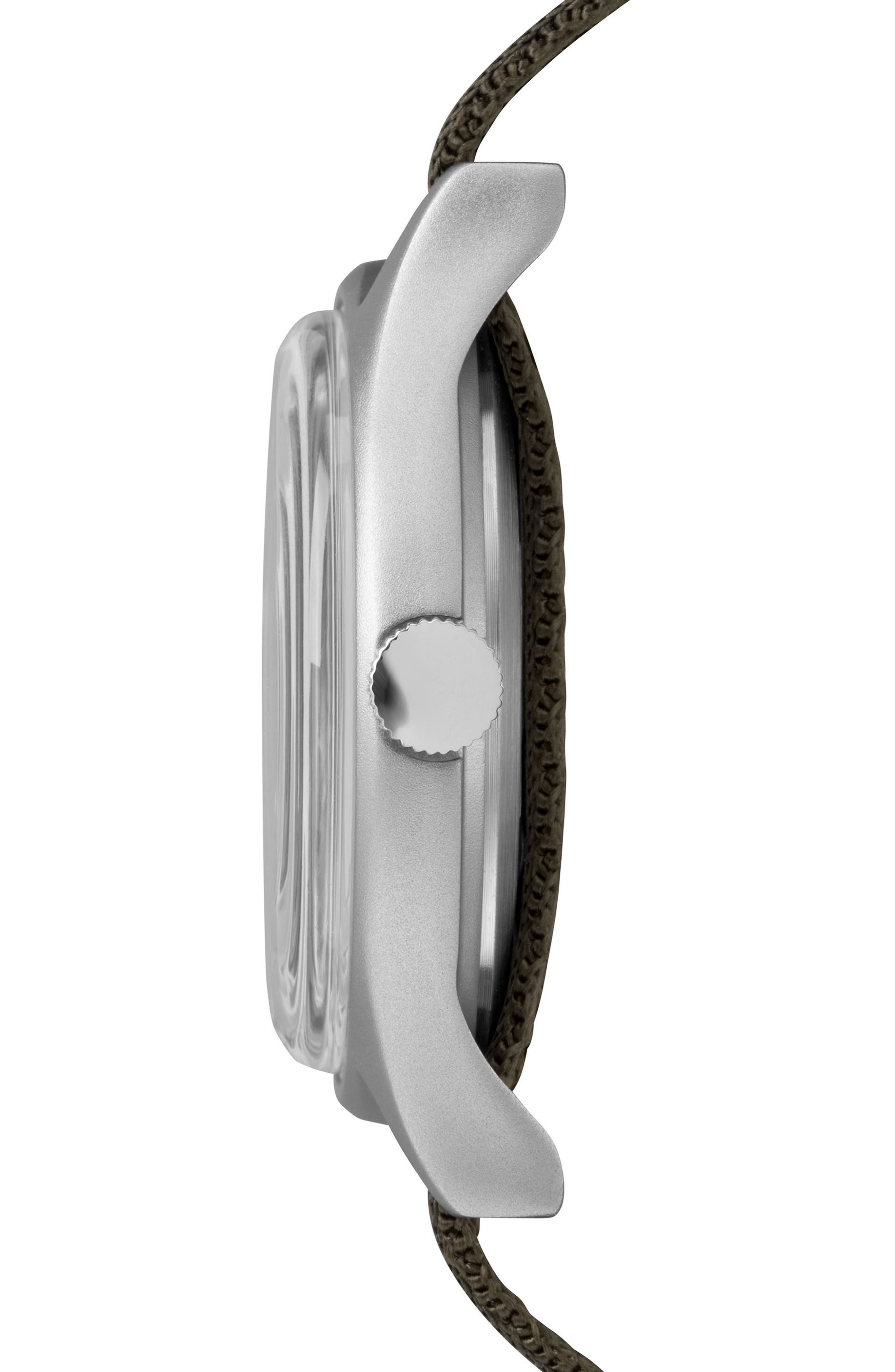 MK1 Nylon Strap Watch, 40mm,                             Alternate thumbnail 2, color,                             OLIVE/ WHITE/ SILVER