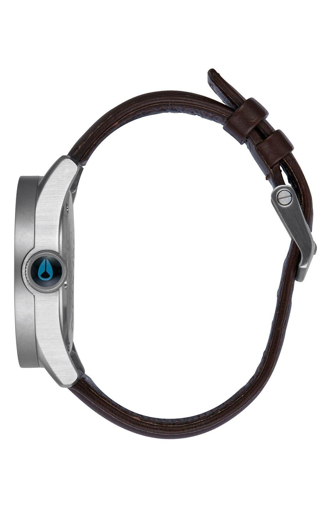 'Safari' Leather Strap Watch, 43mm,                             Alternate thumbnail 13, color,