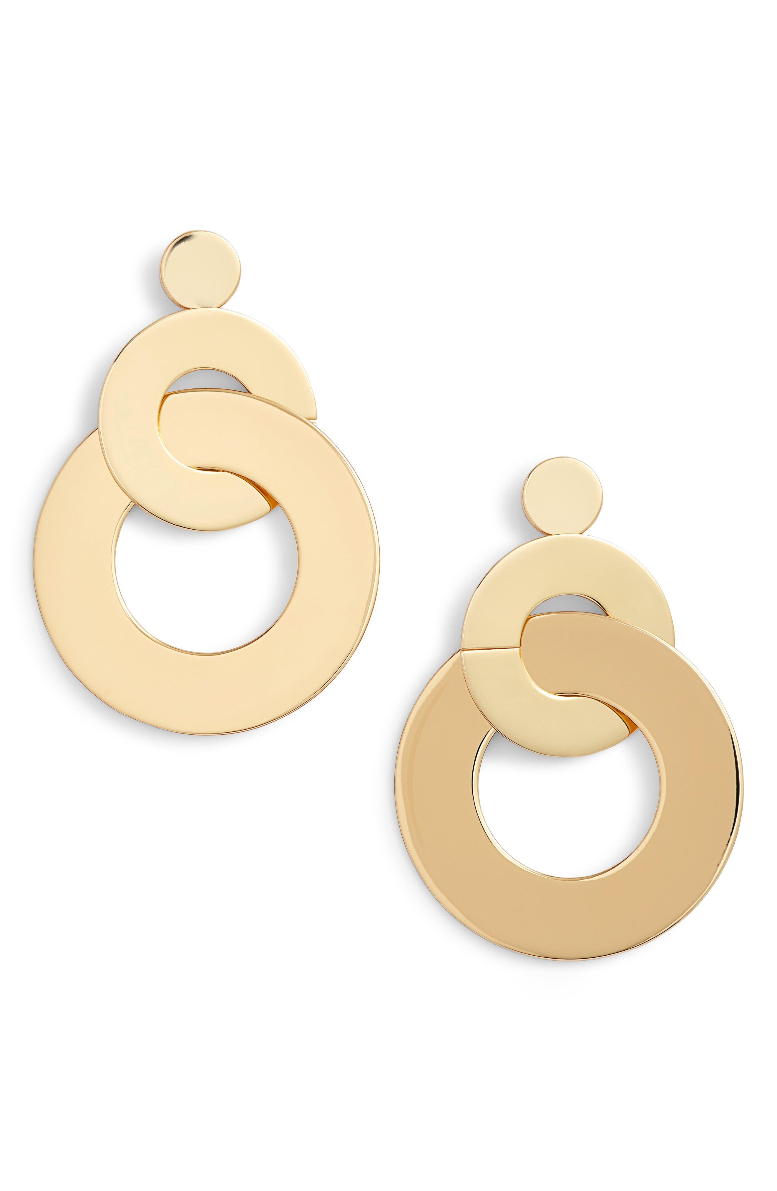 TGIF Earrings,                             Main thumbnail 1, color,                             GOLD