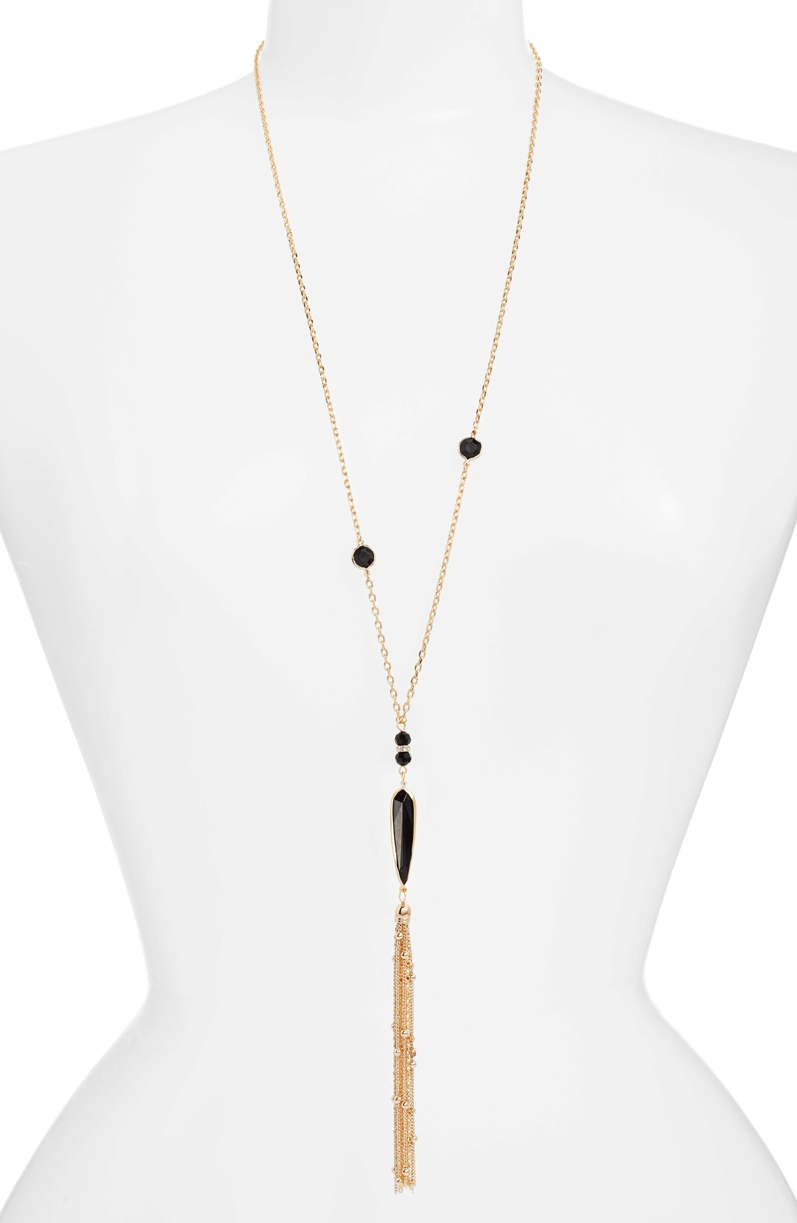Tassel Pendant Necklace,                         Main,                         color, 001