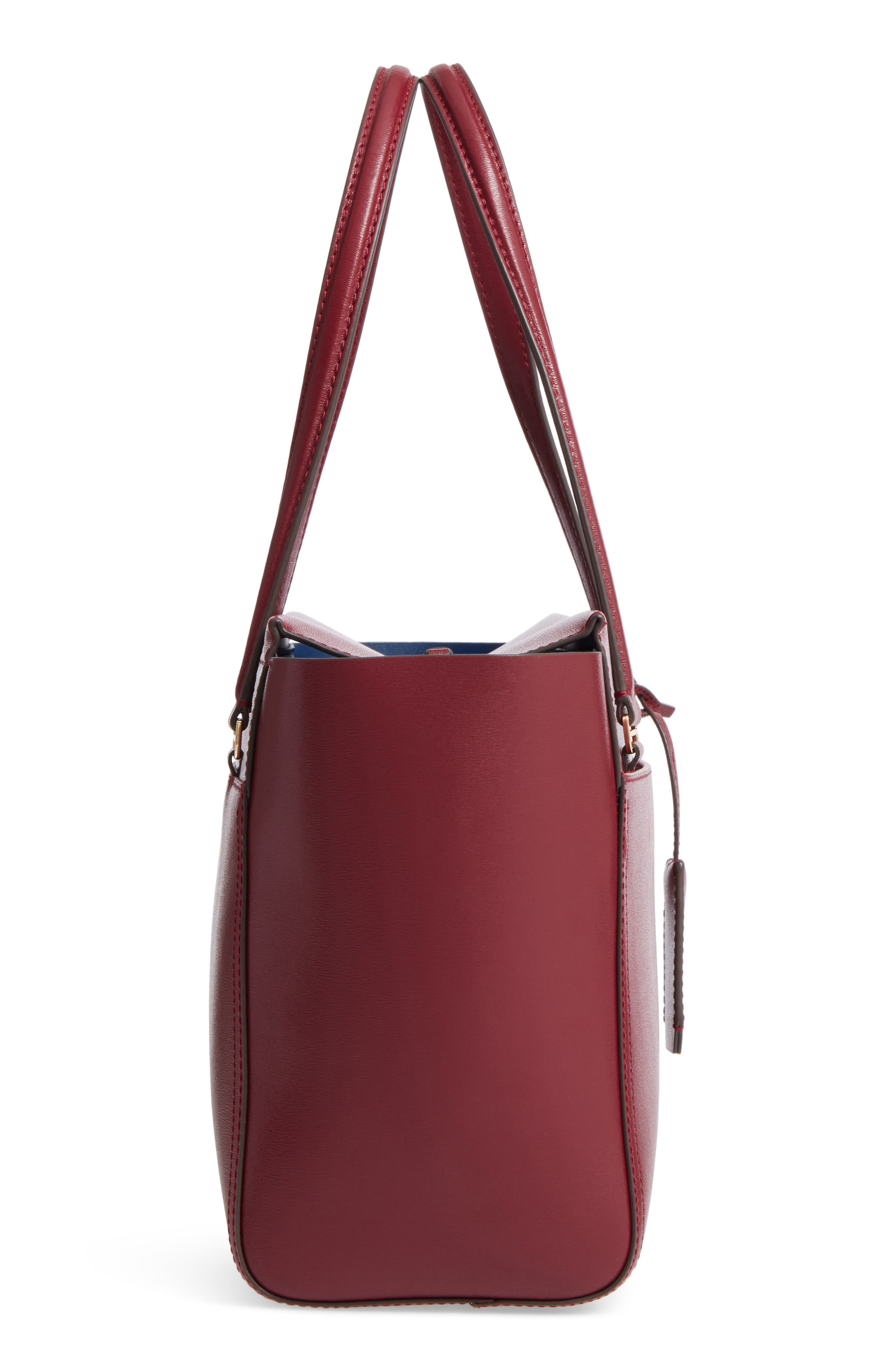 Small Parker Leather Tote,                             Alternate thumbnail 5, color,                             930