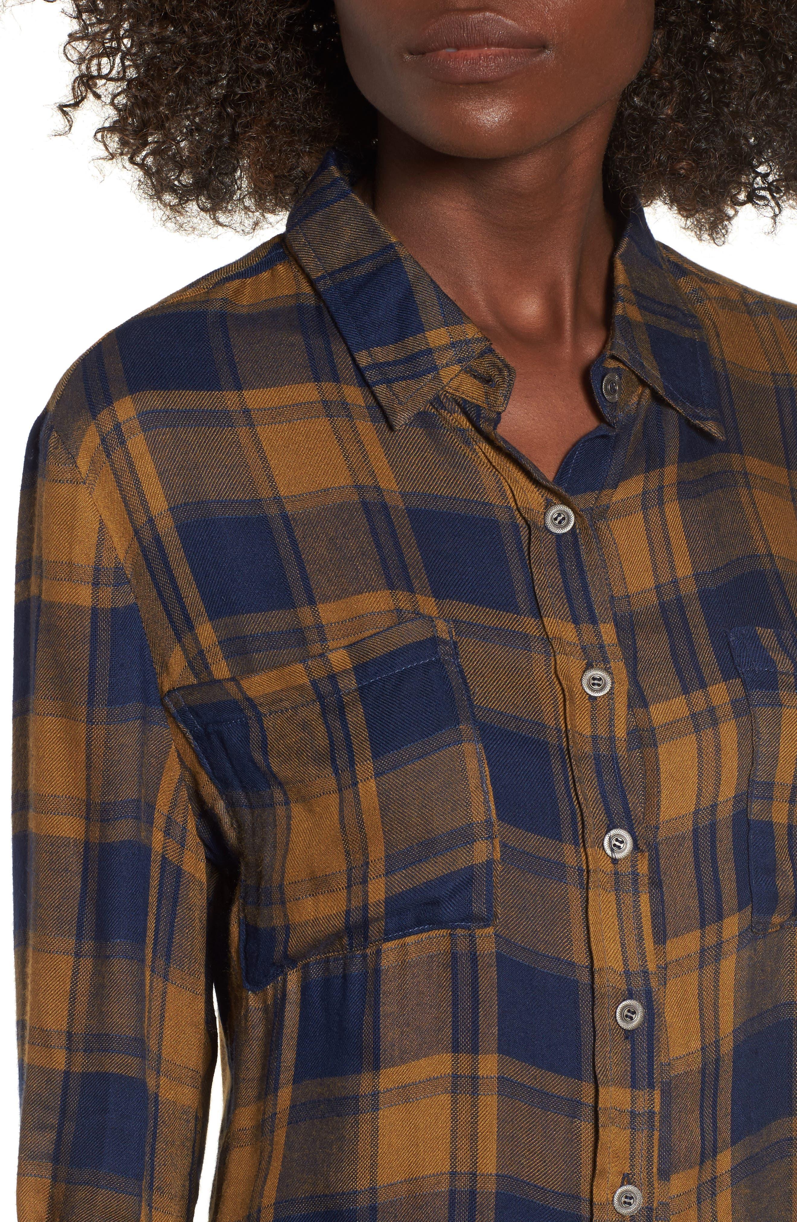 Anarchy Plaid Shirt,                             Alternate thumbnail 8, color,