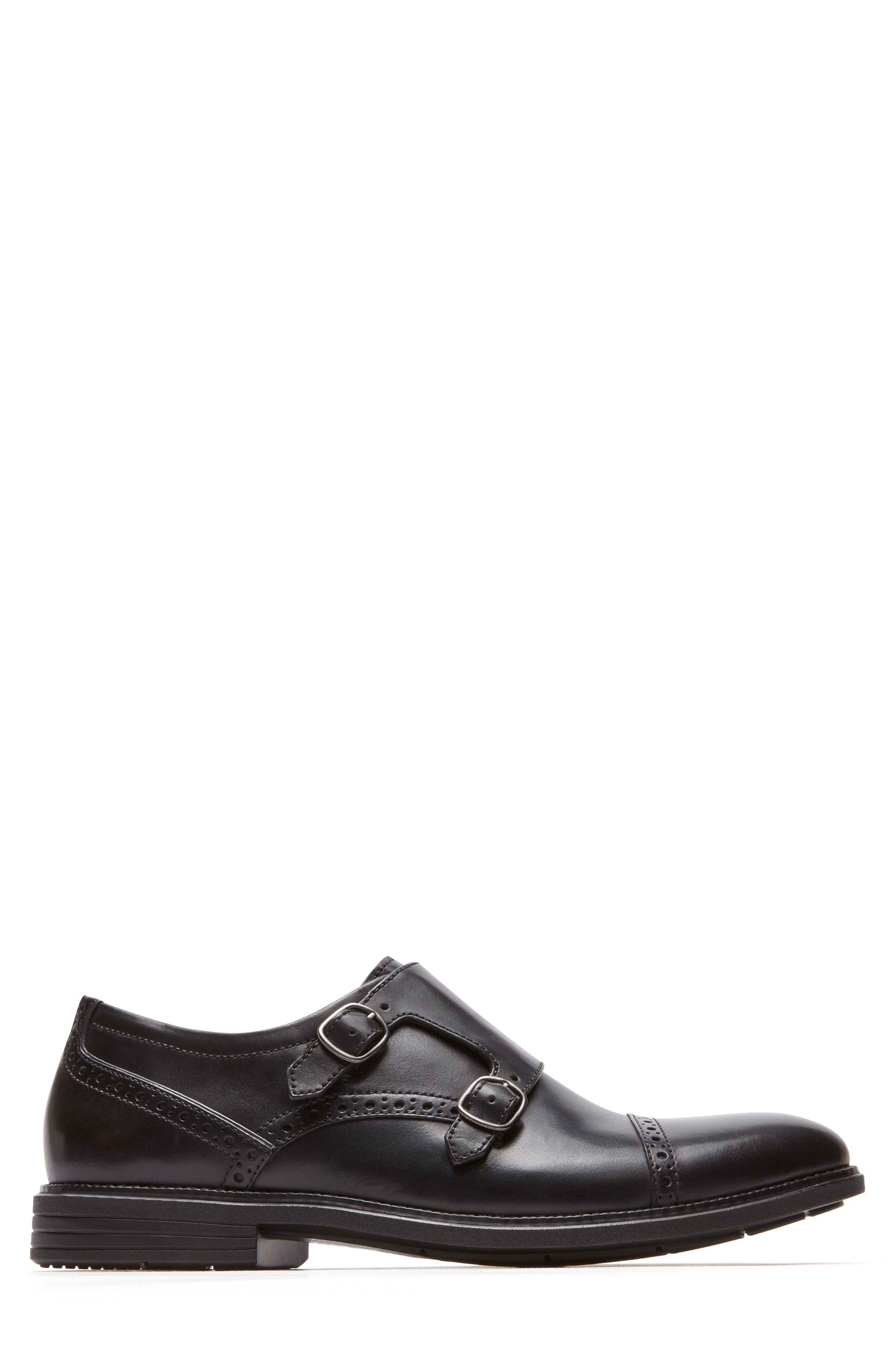 Madson Double Monk Strap Shoe,                             Alternate thumbnail 3, color,                             001