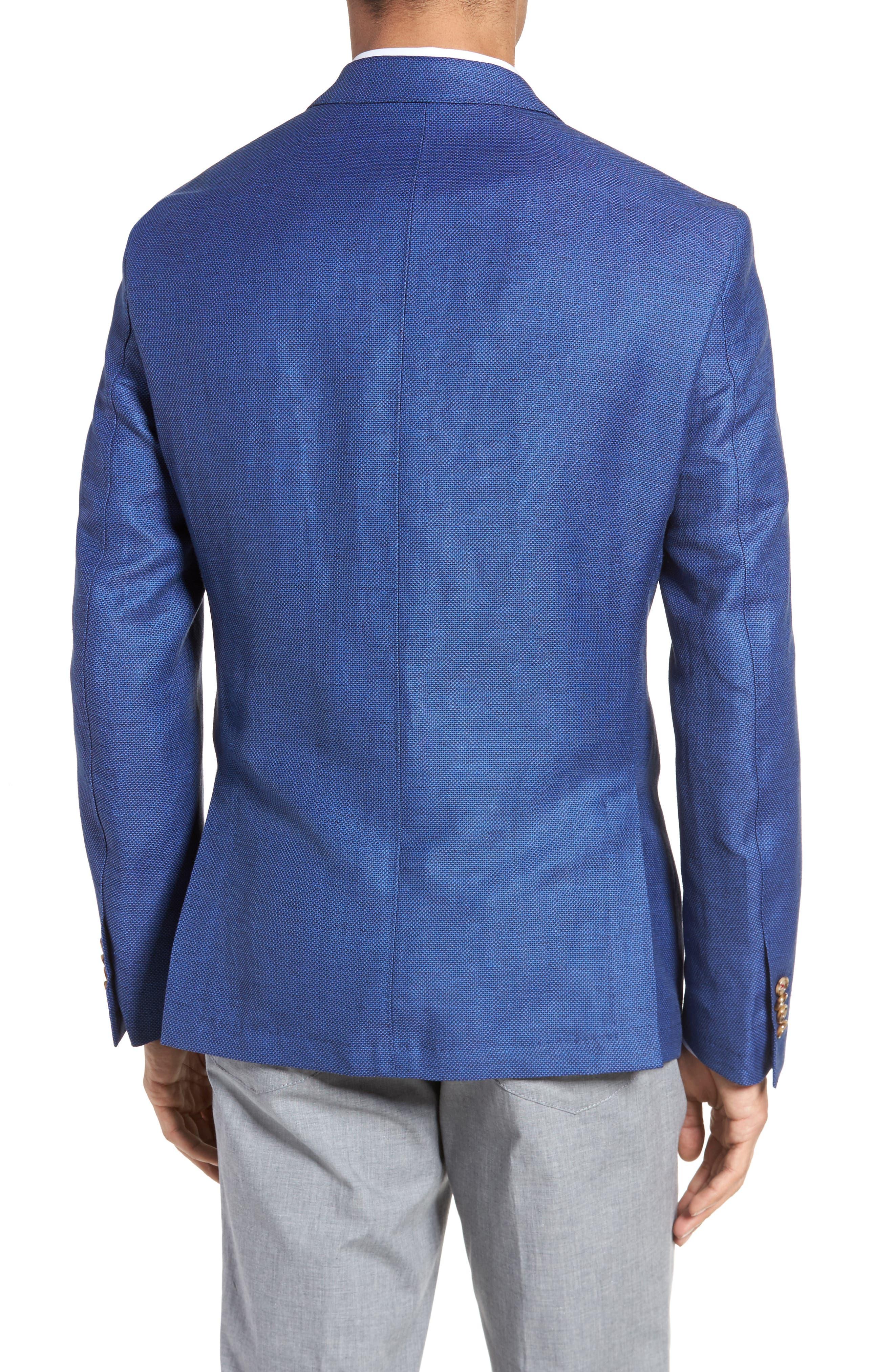Trent Trim Fit Linen & Wool Blazer,                             Alternate thumbnail 2, color,