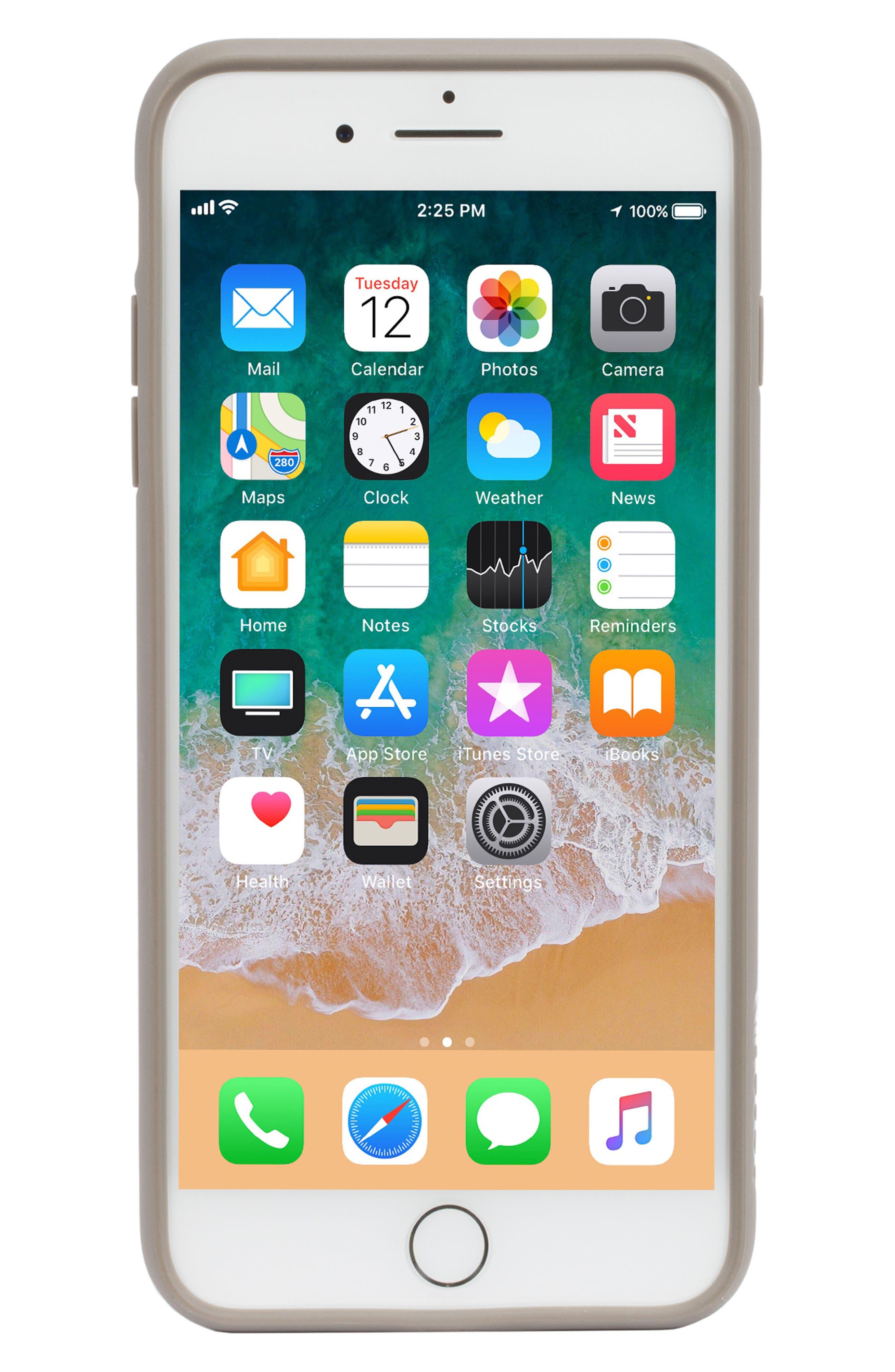 Pop Case Tint iPhone 7 Plus/8 Plus Case,                             Main thumbnail 1, color,                             DEEP TAUPE