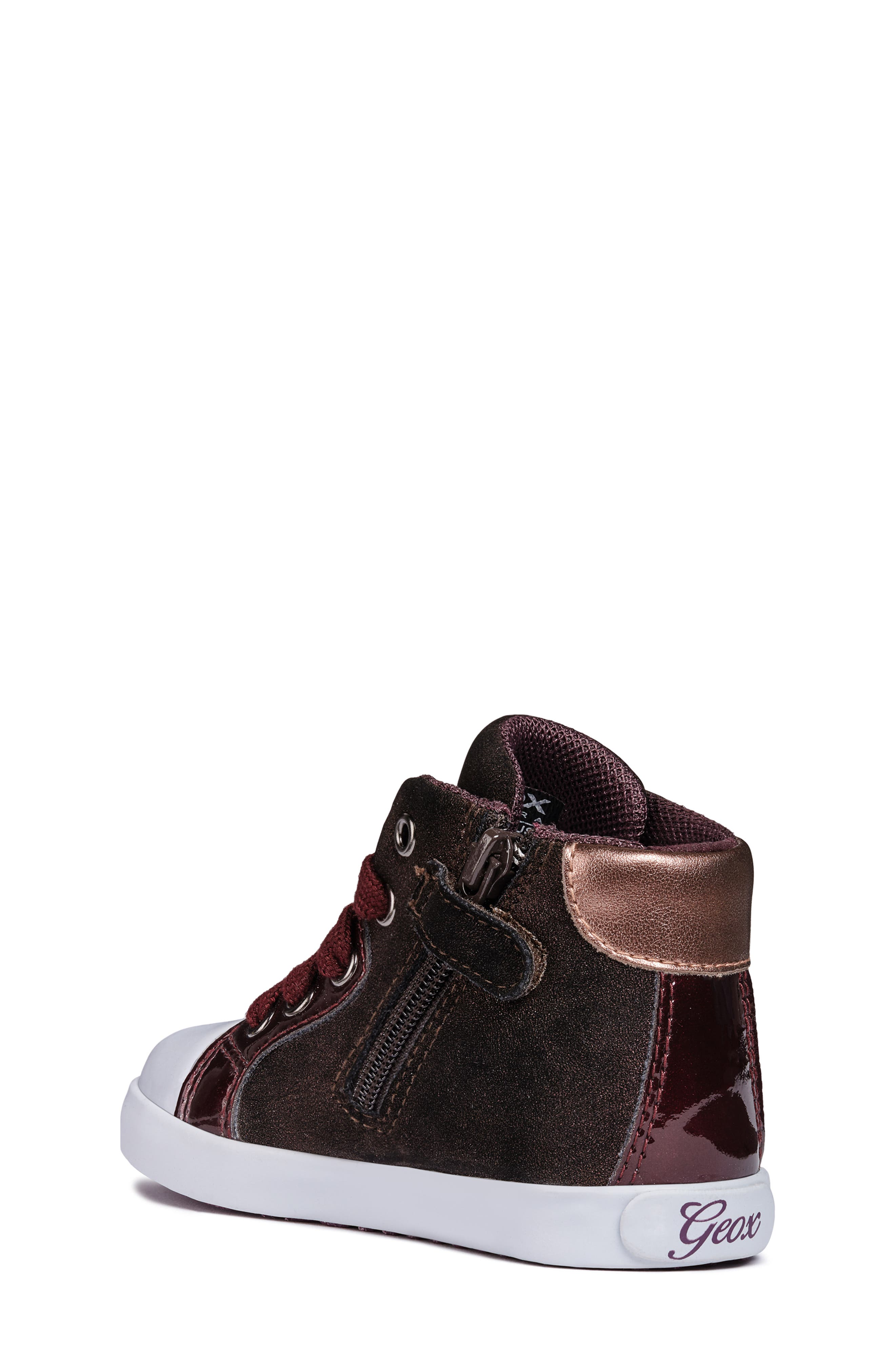 Kilwi Sparkle High Top Sneaker,                             Alternate thumbnail 2, color,                             DARK BURGUNDY