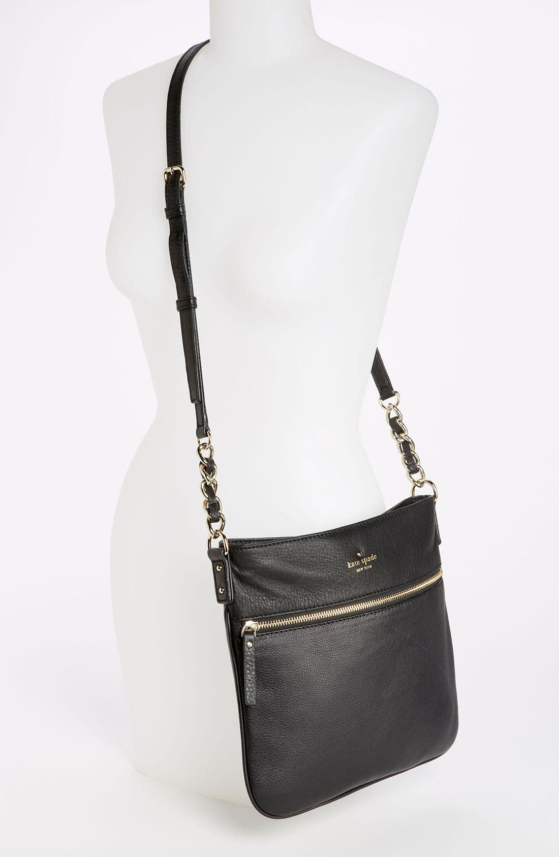 'cobble hill - ellen' leather crossbody bag,                             Alternate thumbnail 5, color,                             001