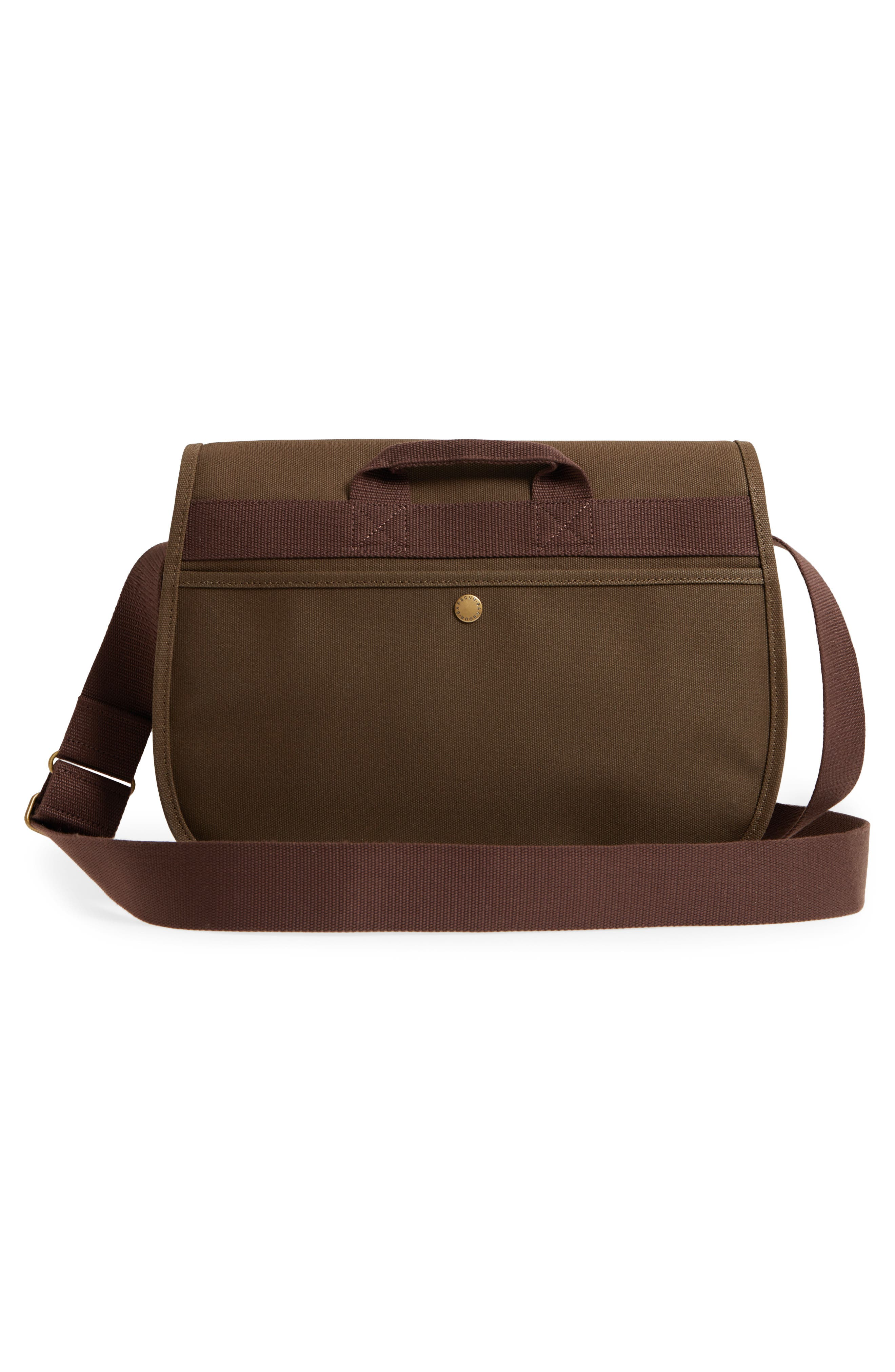 Tarras Canvas Messenger Bag,                             Alternate thumbnail 3, color,                             OLIVE