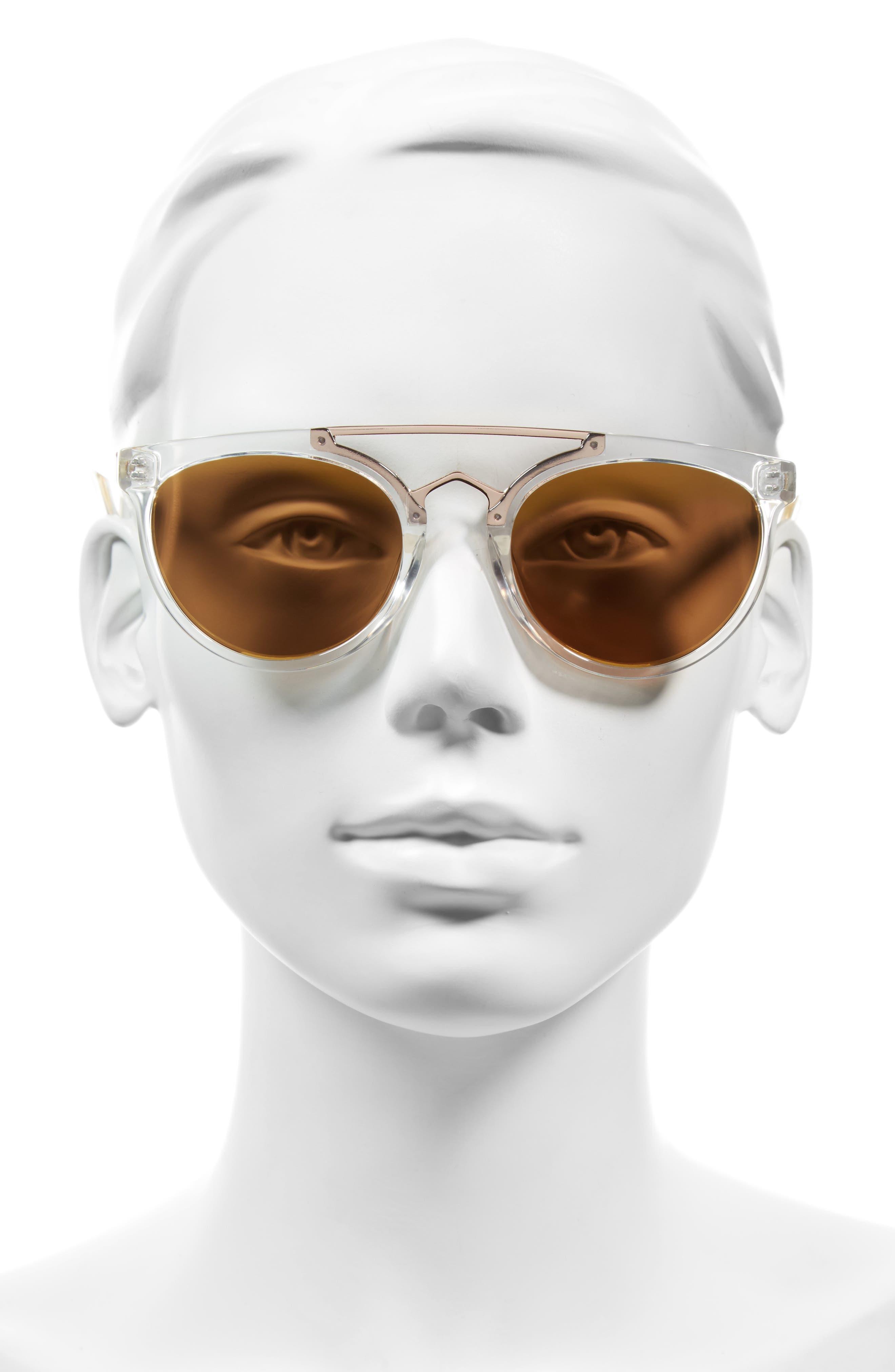 Rose 53mm Retro Sunglasses,                             Alternate thumbnail 8, color,