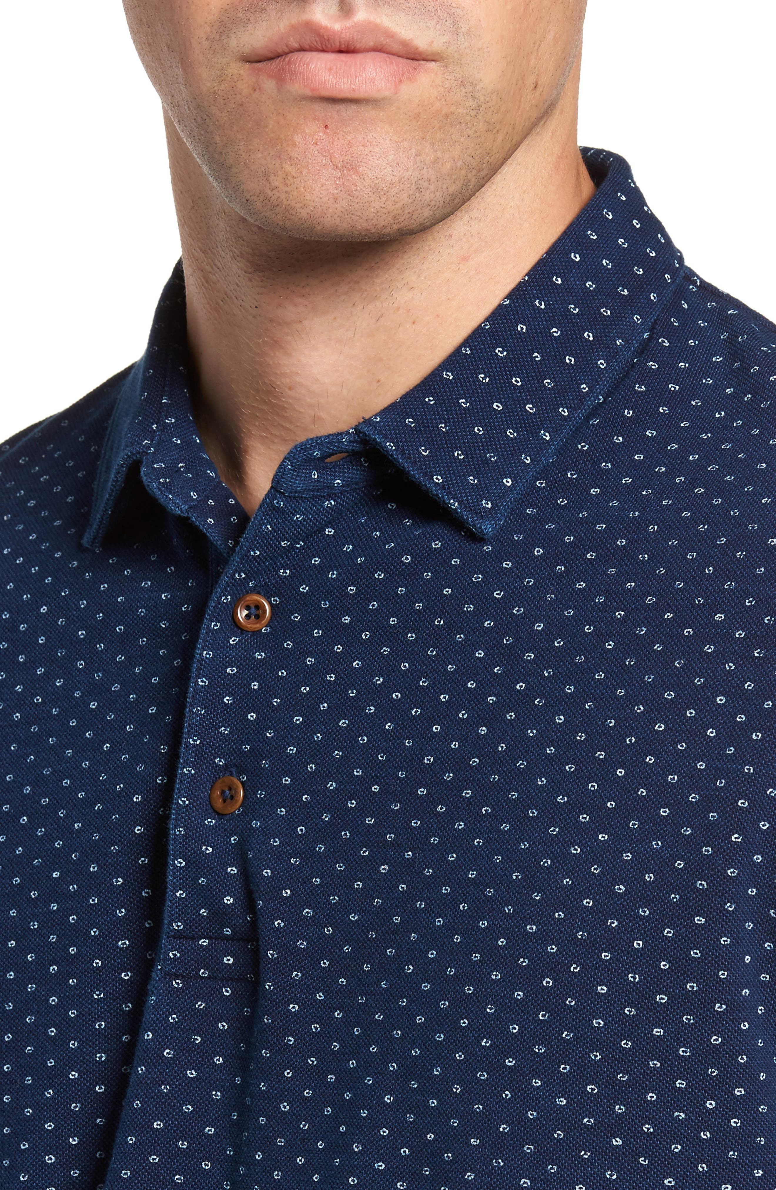 Dojo Dot Regular Fit Cotton Polo,                             Alternate thumbnail 4, color,