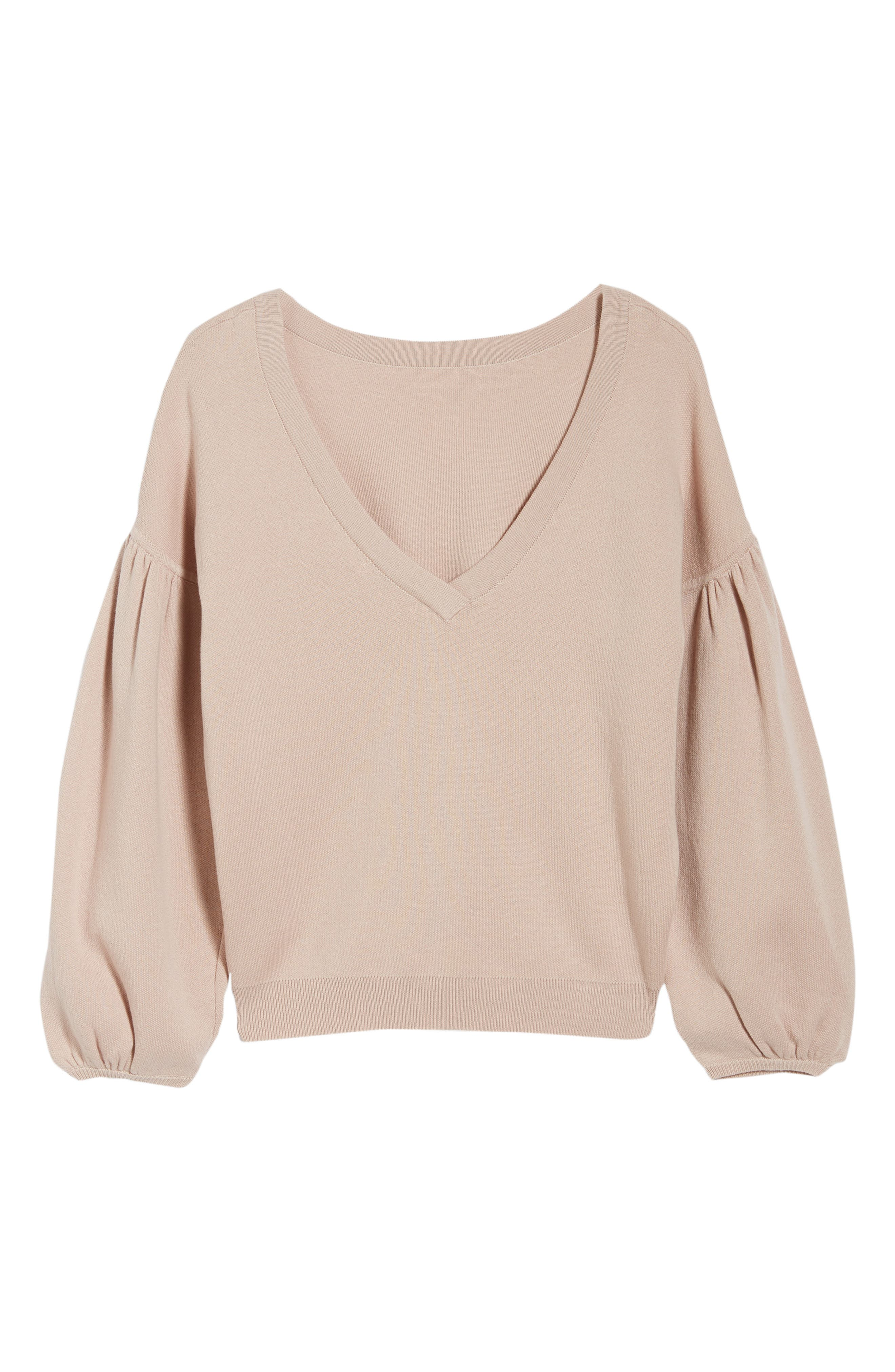 Bishop + Young Hailey Balloon Sleeve Sweater,                             Alternate thumbnail 6, color,                             QUARTZ