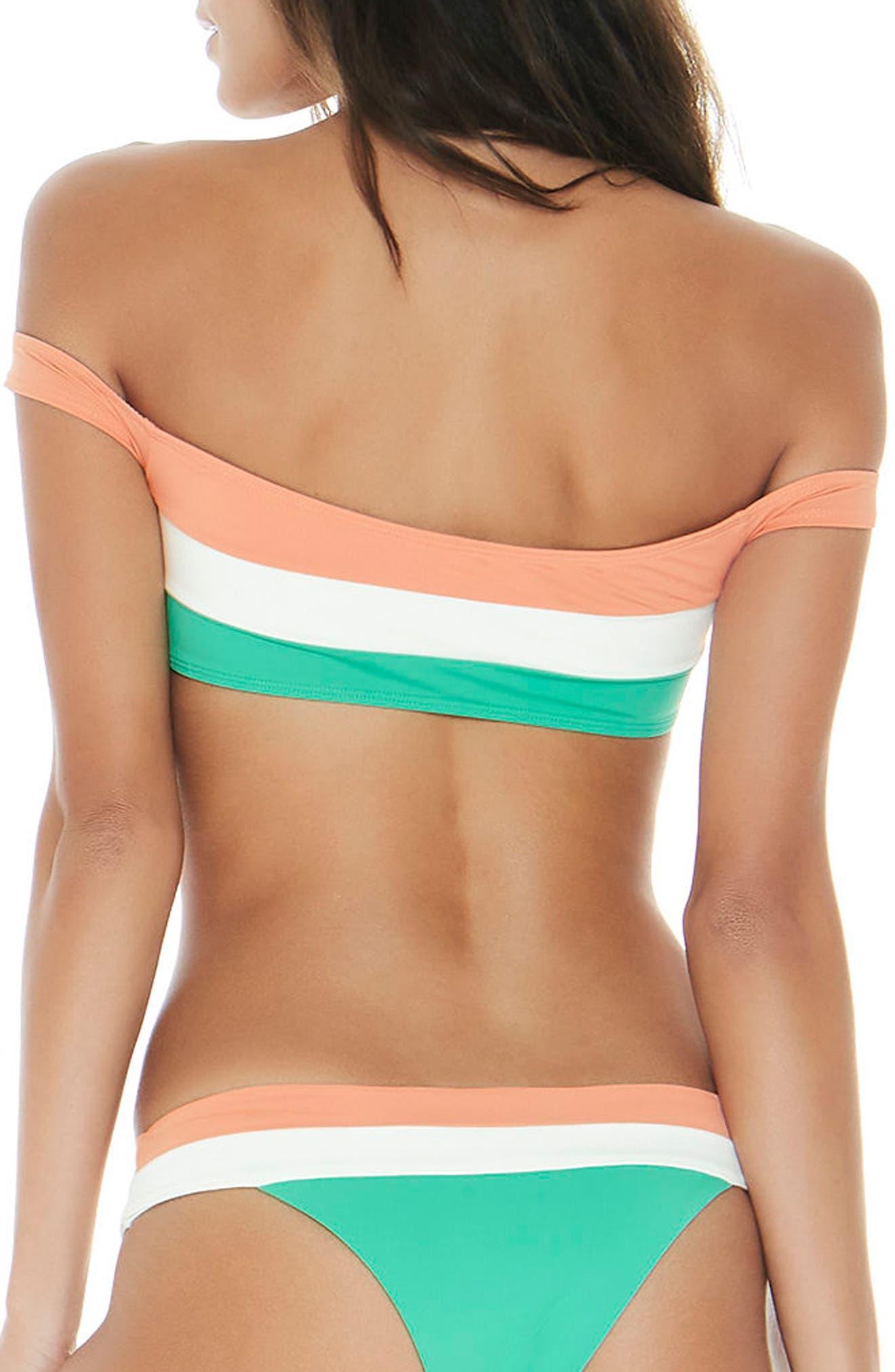 Ziggy Off the Shoulder Bikini Top,                             Alternate thumbnail 2, color,                             900