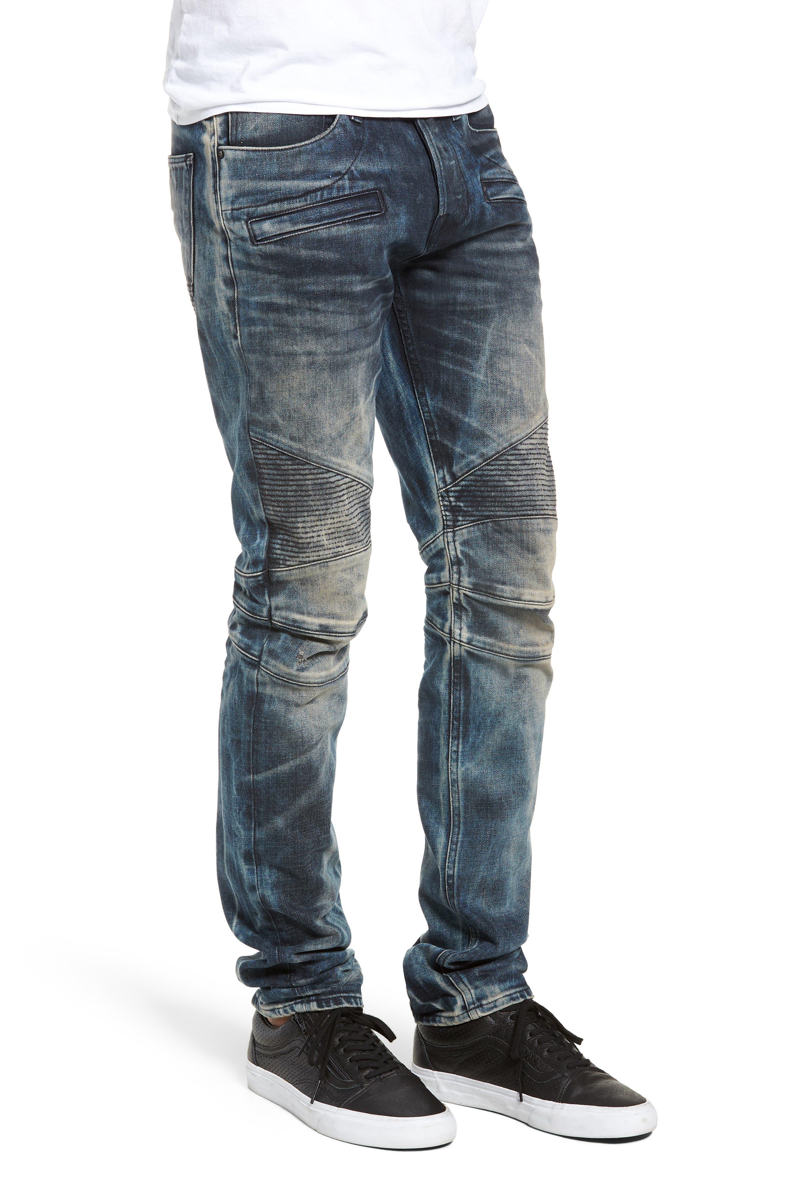 Blinder Biker Skinny Fit Jeans,                             Alternate thumbnail 3, color,                             MARTINO