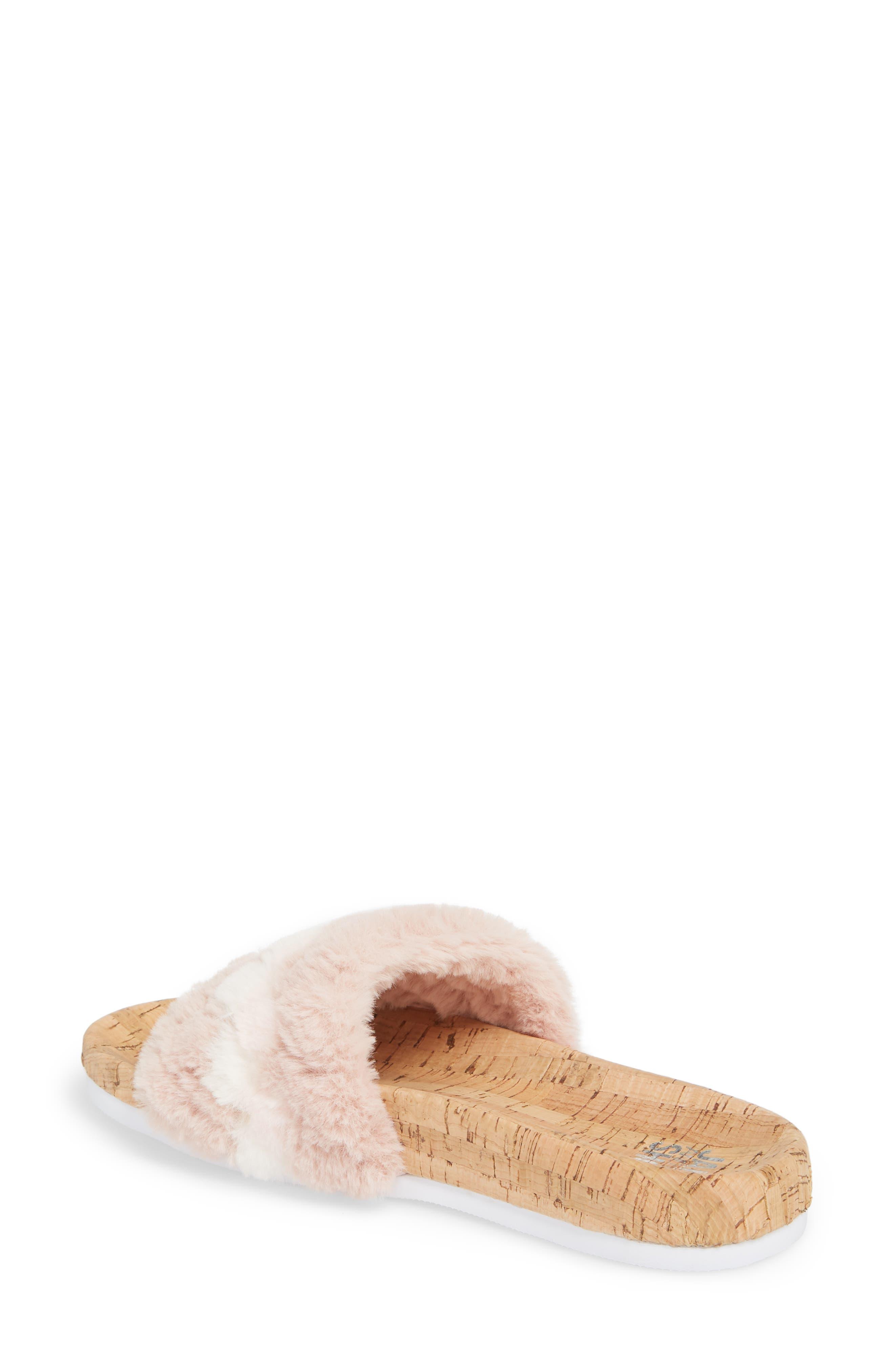 Kate Faux Fur Slide Sandal,                             Alternate thumbnail 2, color,                             650