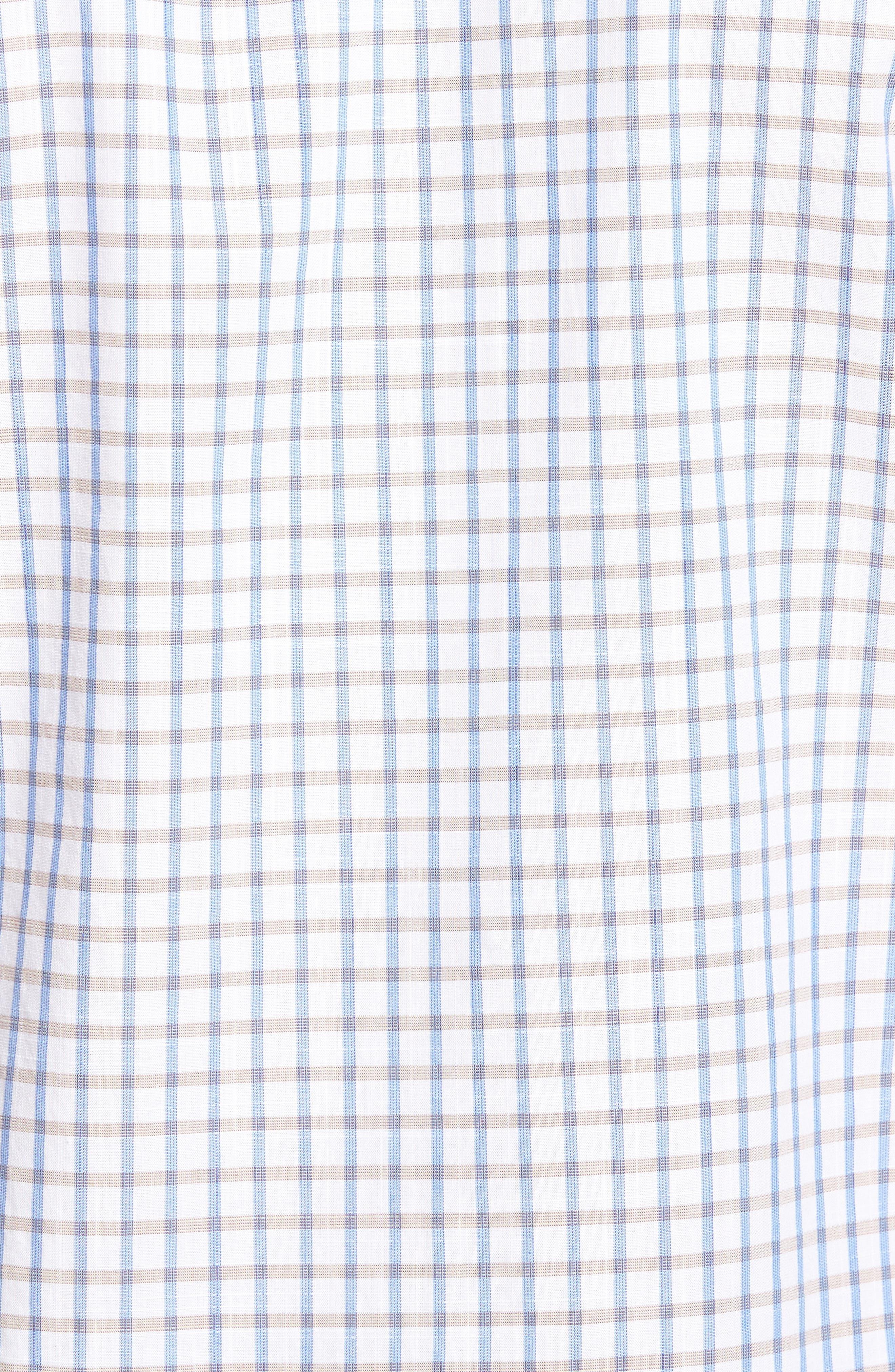 Mount Edward Check Sport Shirt,                             Alternate thumbnail 5, color,                             111