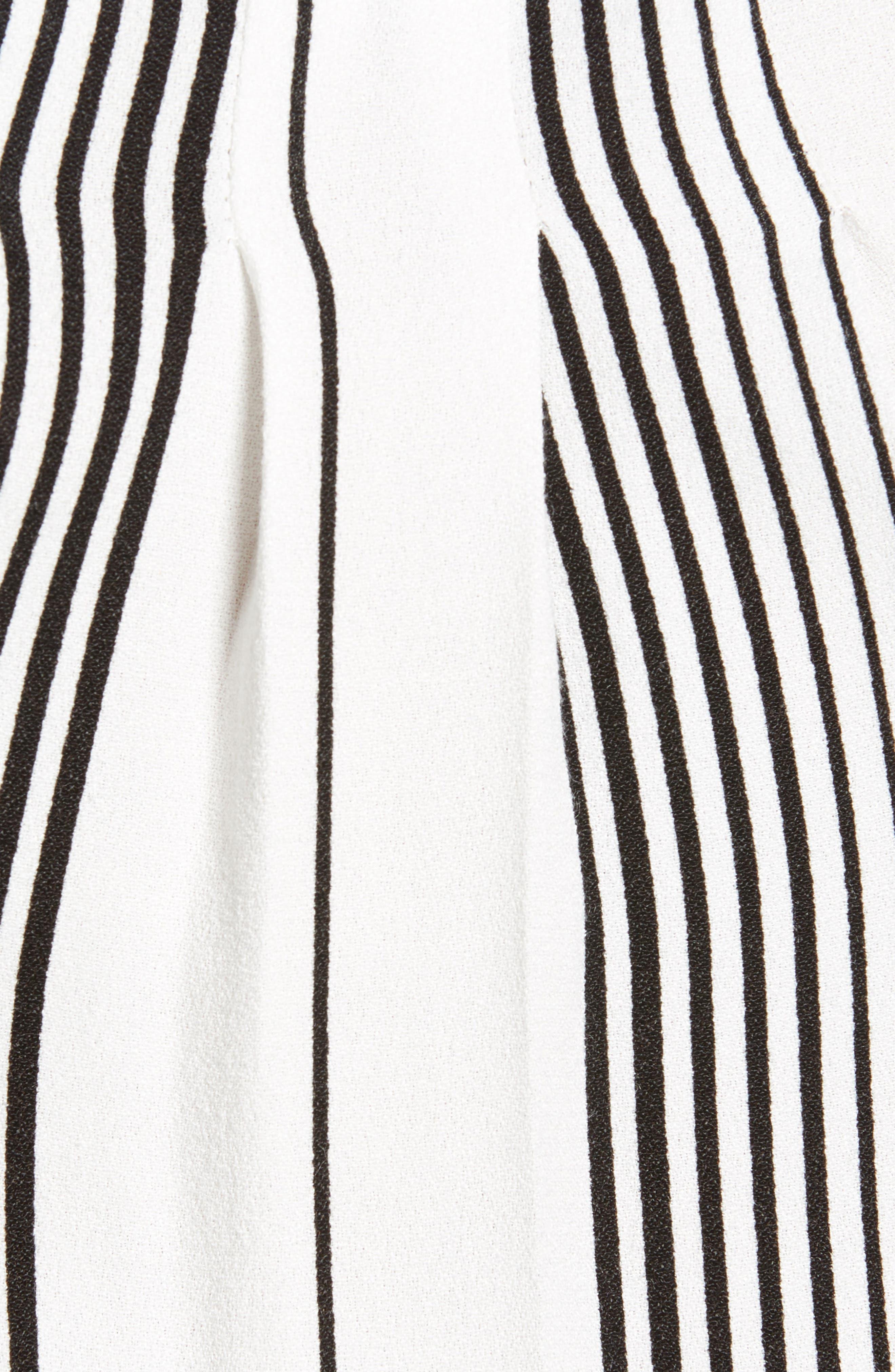 Nora Thong Bodysuit,                             Alternate thumbnail 5, color,                             BLANC STRIPE