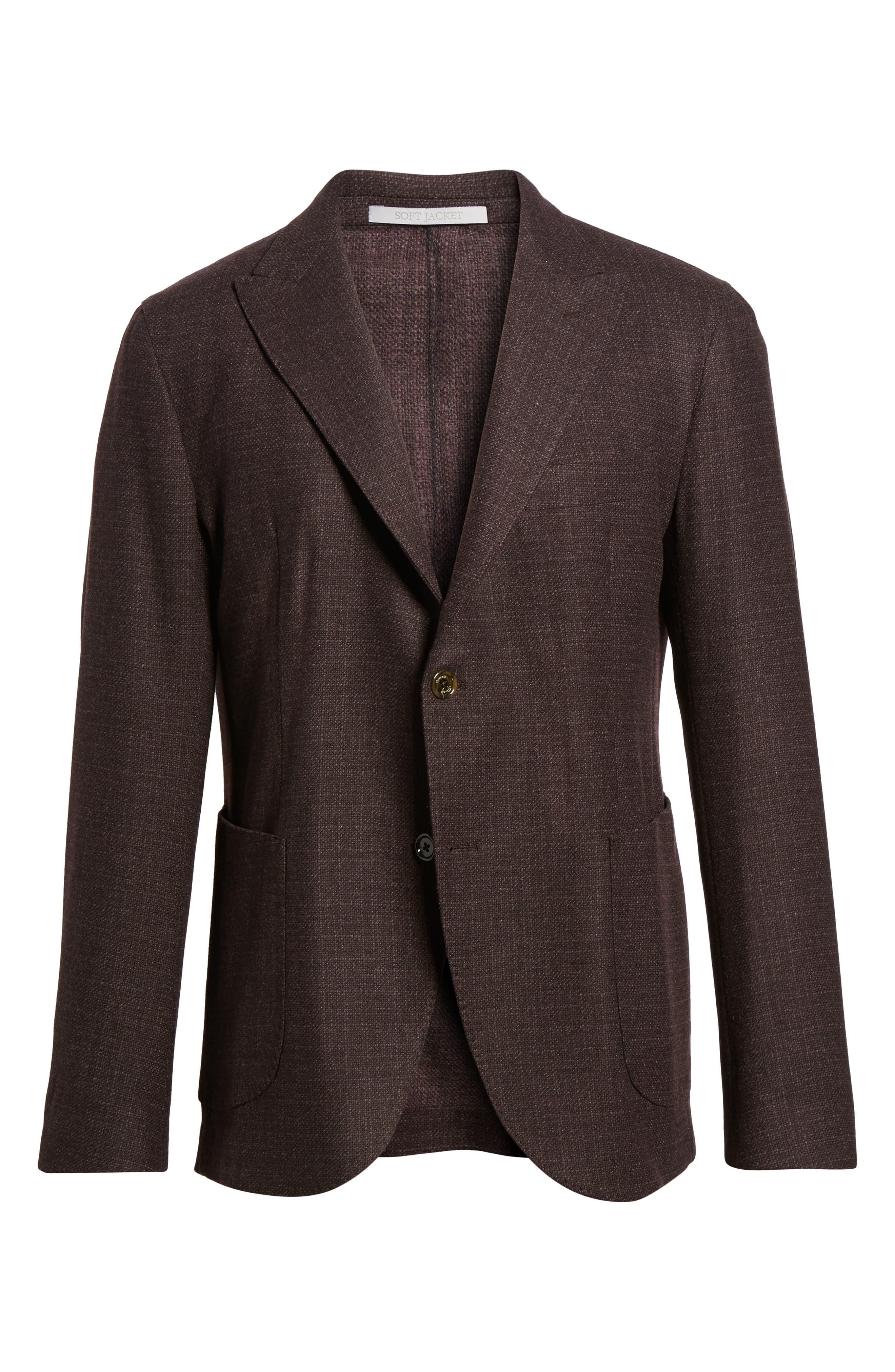 Trim Fit Wool & Cashmere Blazer,                             Alternate thumbnail 5, color,                             932