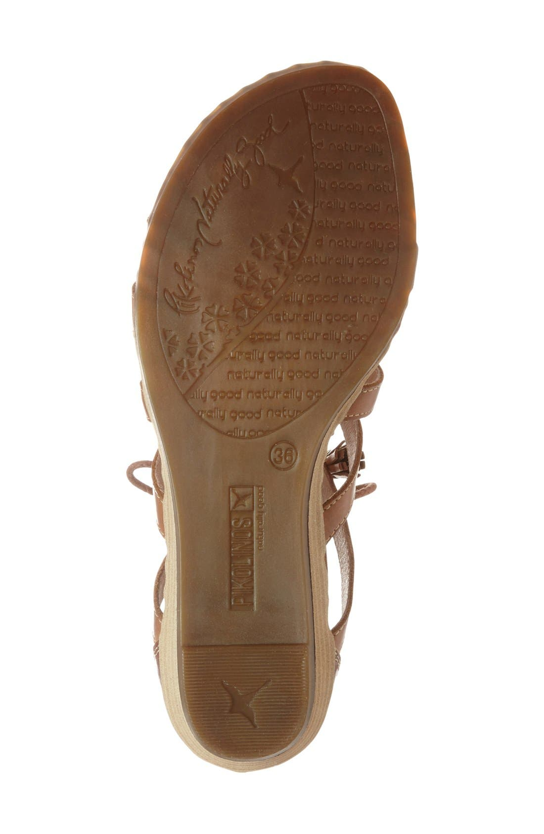 'Alcudia' Lace-Up Sandal,                             Alternate thumbnail 5, color,