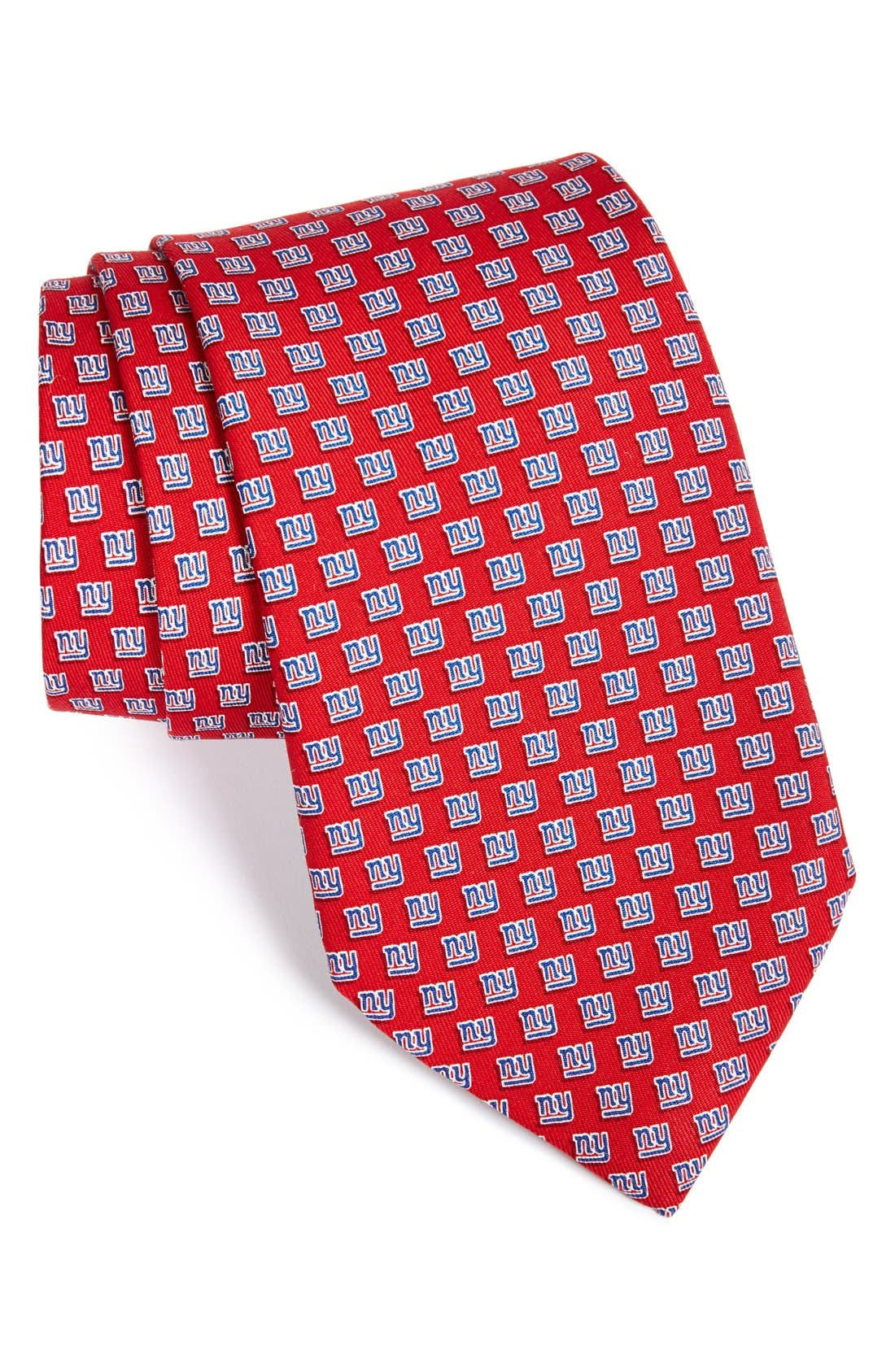 New York Giants Print Tie,                         Main,                         color, RED
