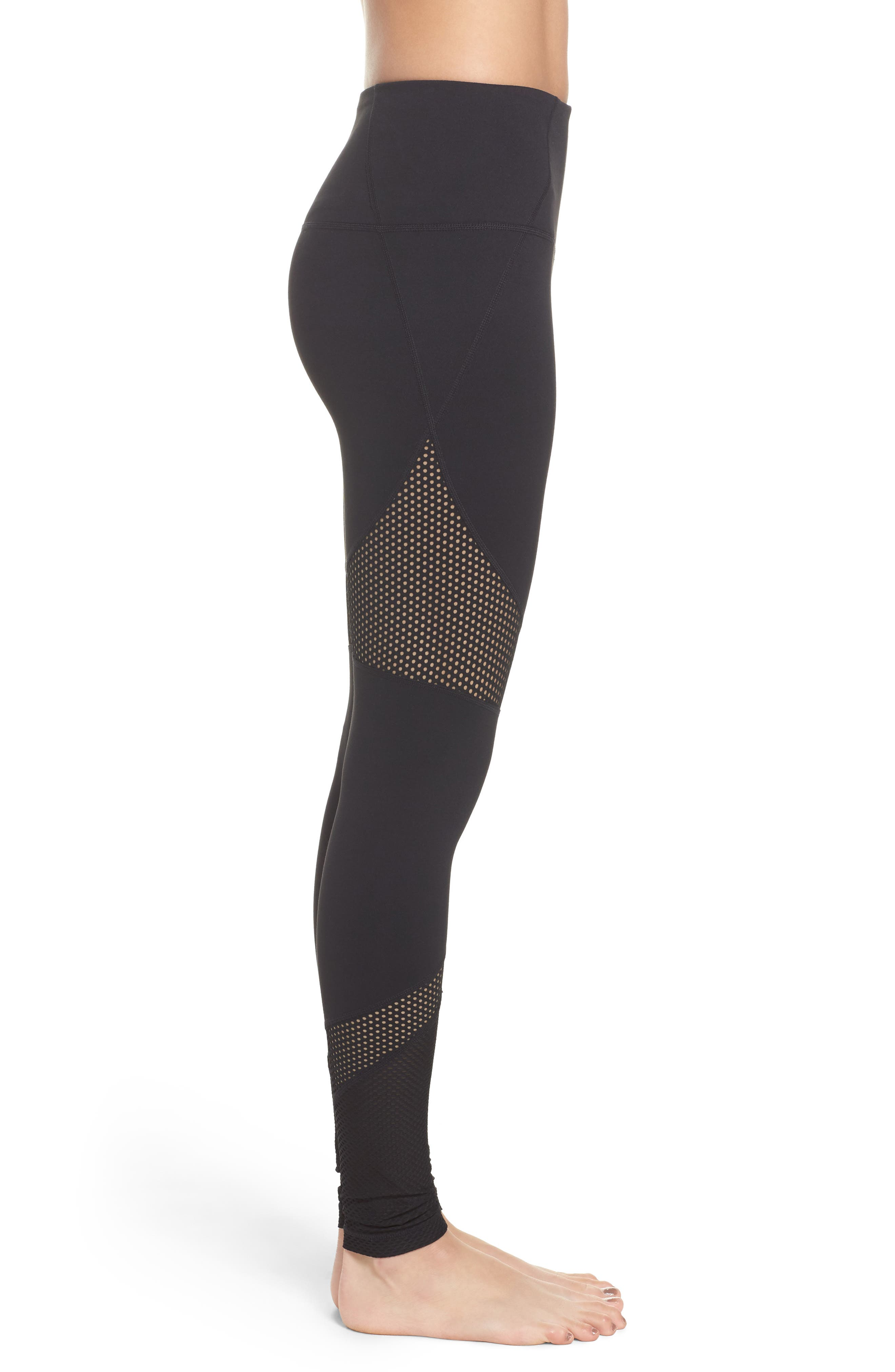 Out of Bounds High Waist Leggings,                             Alternate thumbnail 3, color,                             001