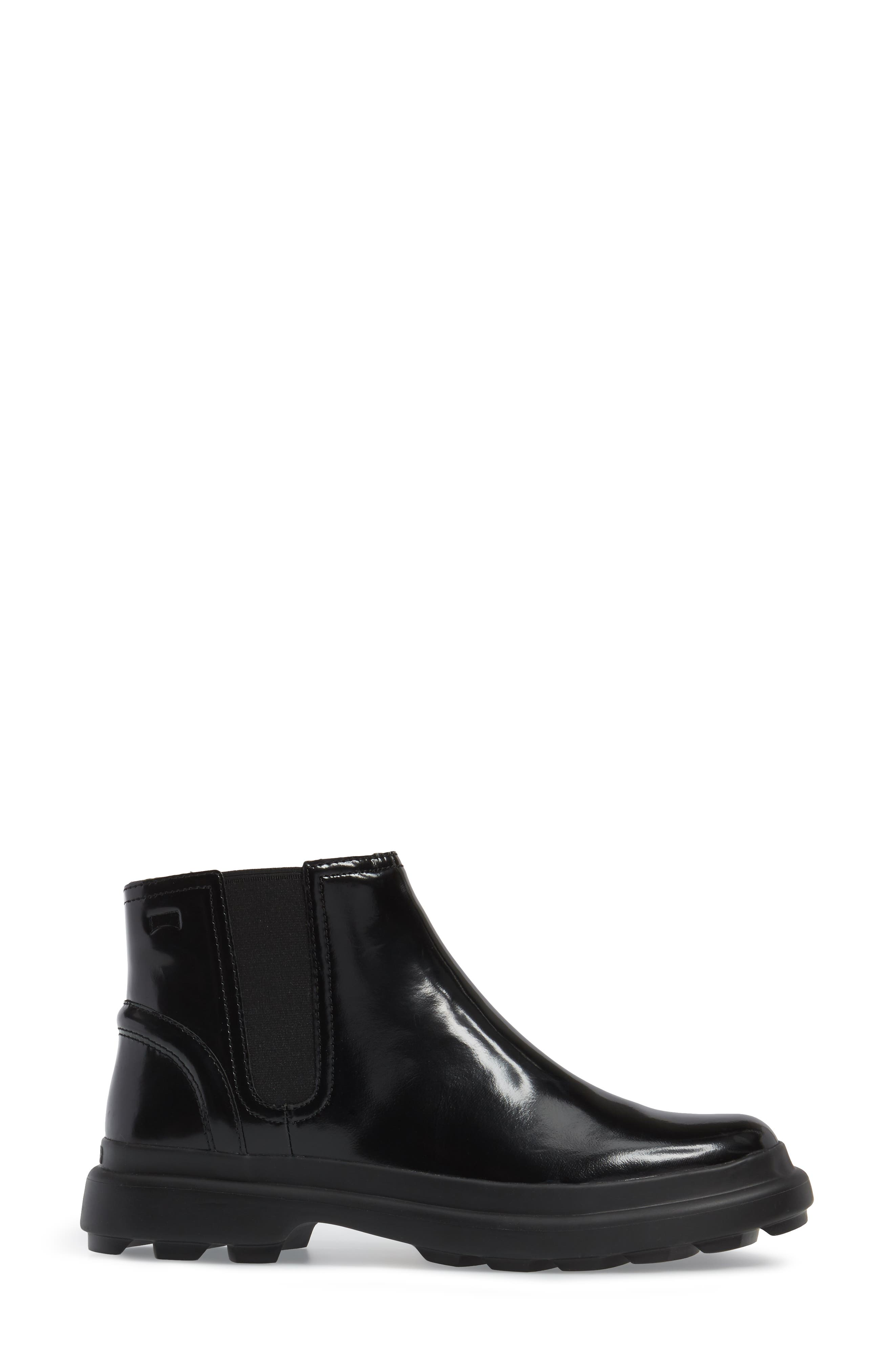 Turtle Lugged Chelsea Boot,                             Alternate thumbnail 3, color,                             001