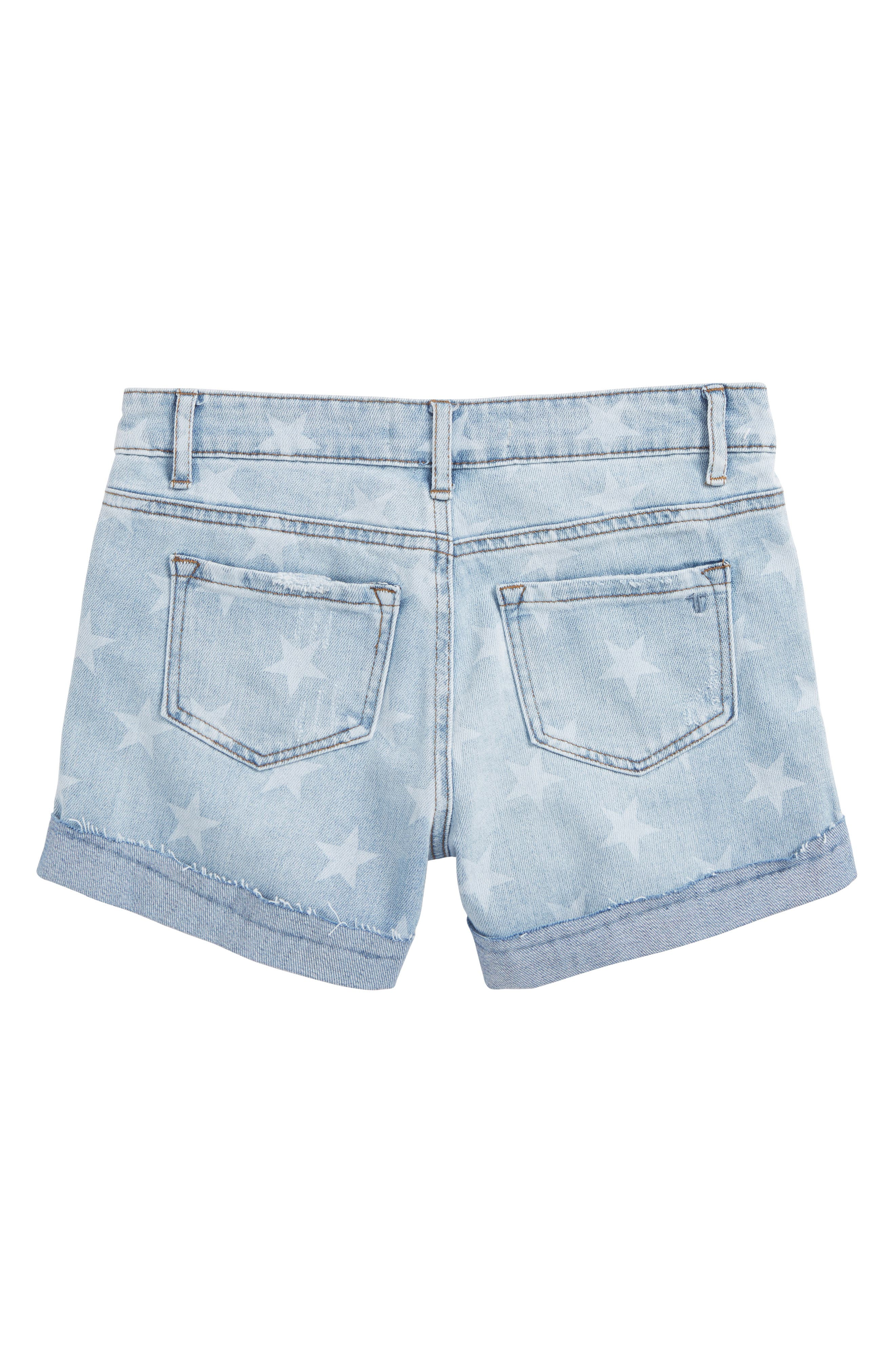 Star Roll Distressed Denim Shorts,                             Alternate thumbnail 2, color,                             461