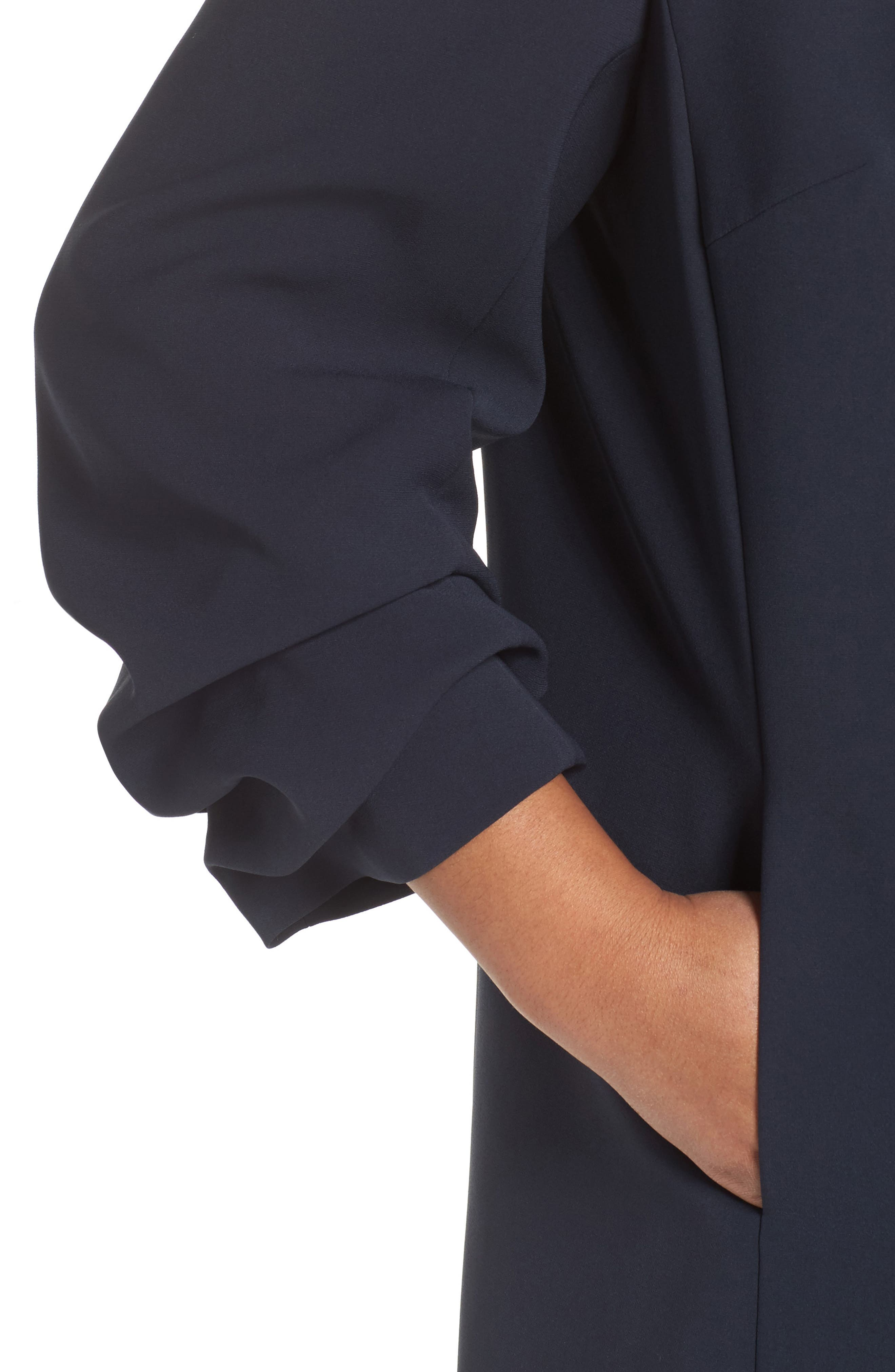 Henrik -Finesse Crepe Jacket (Plus Size,                             Alternate thumbnail 4, color,                             479